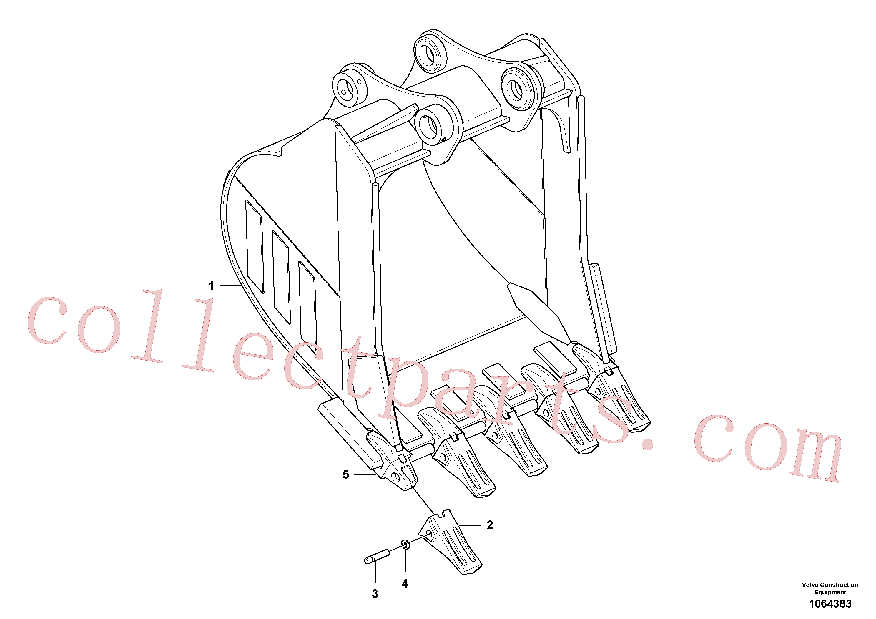 VOE14550967 for Volvo Bucket(1064383 assembly)