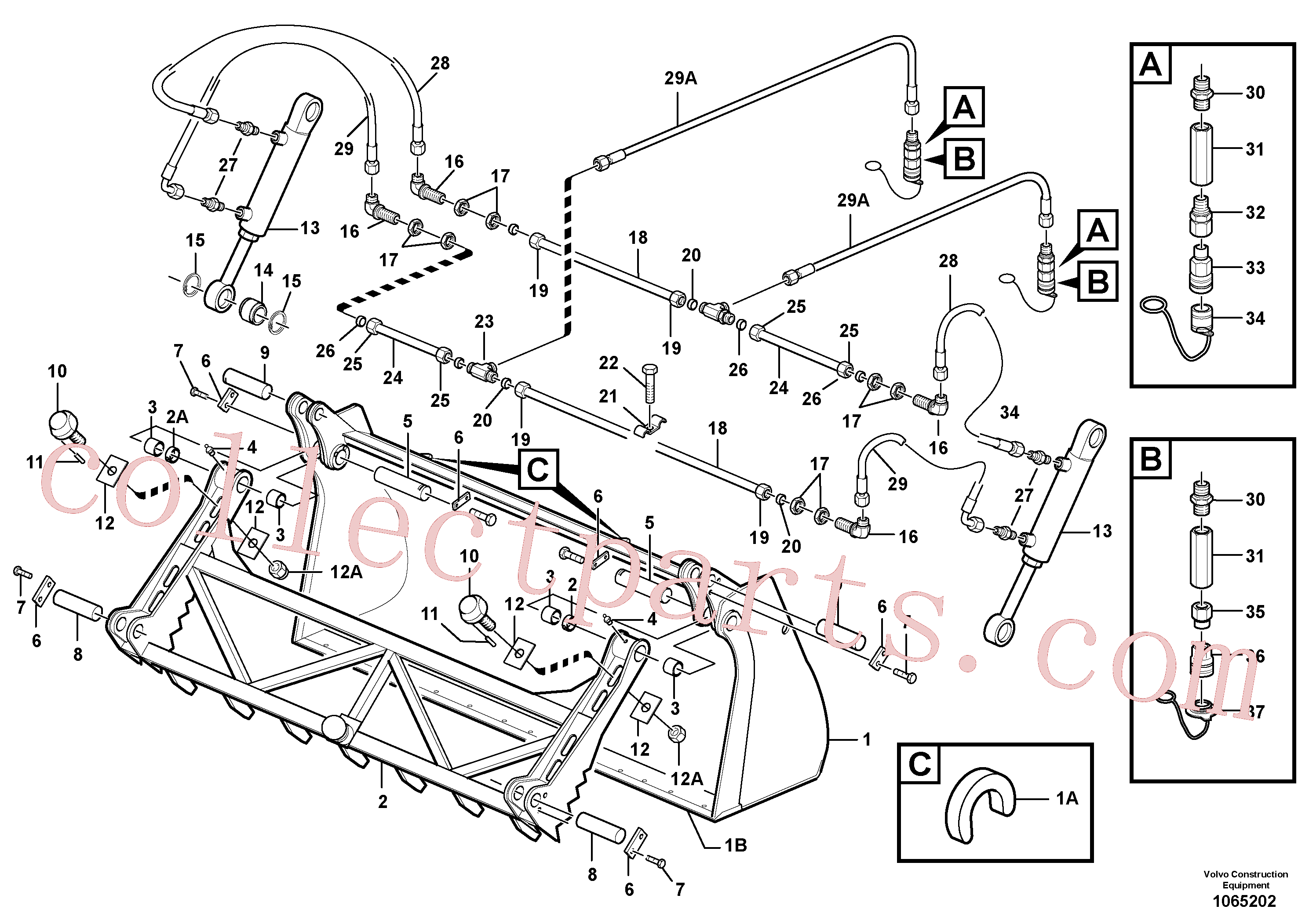 ZM5042101 for Volvo Clamp bucket(1065202 assembly)