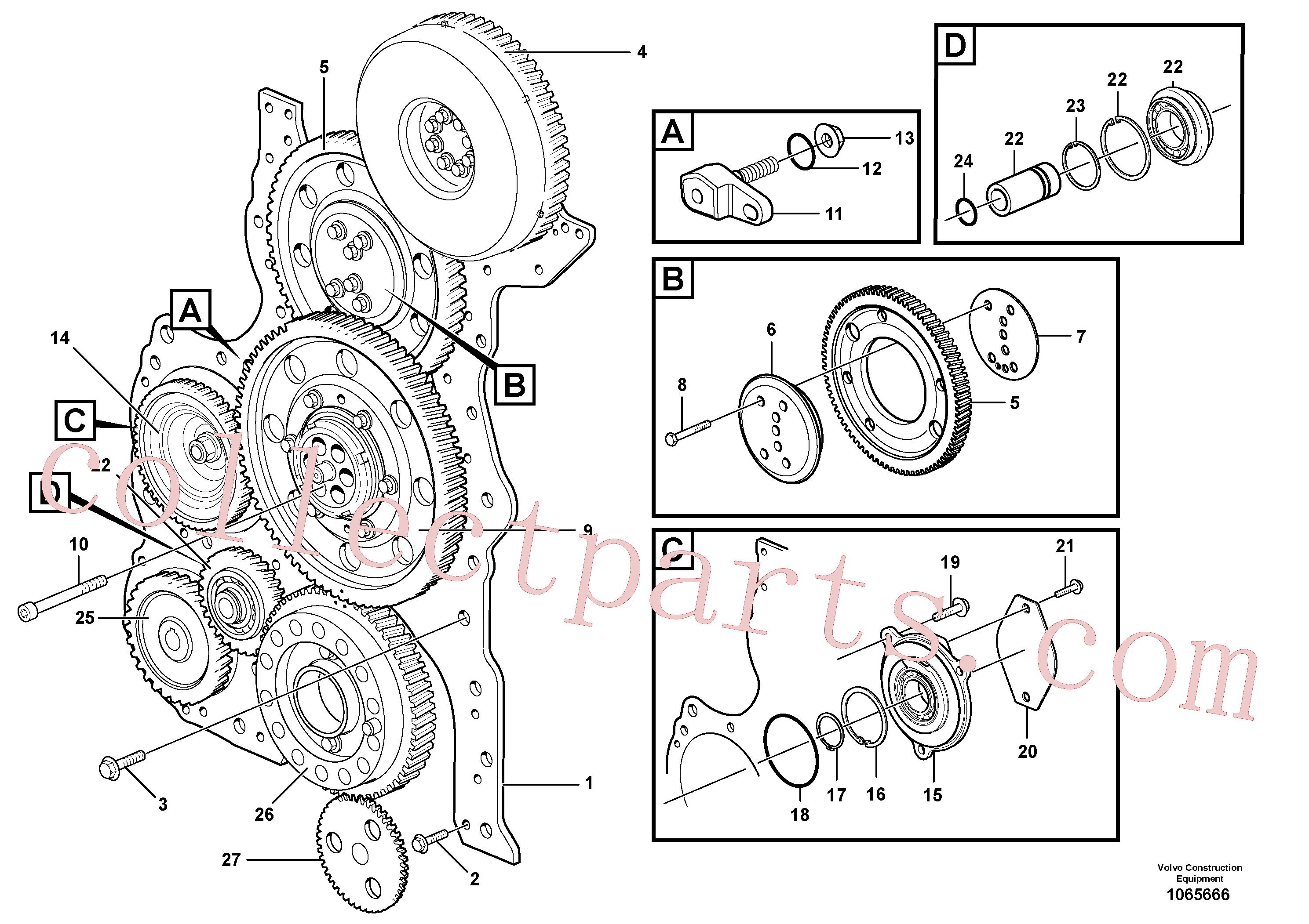 ZM7094911 for Volvo Timing gear casing and gears(1065666 assembly)