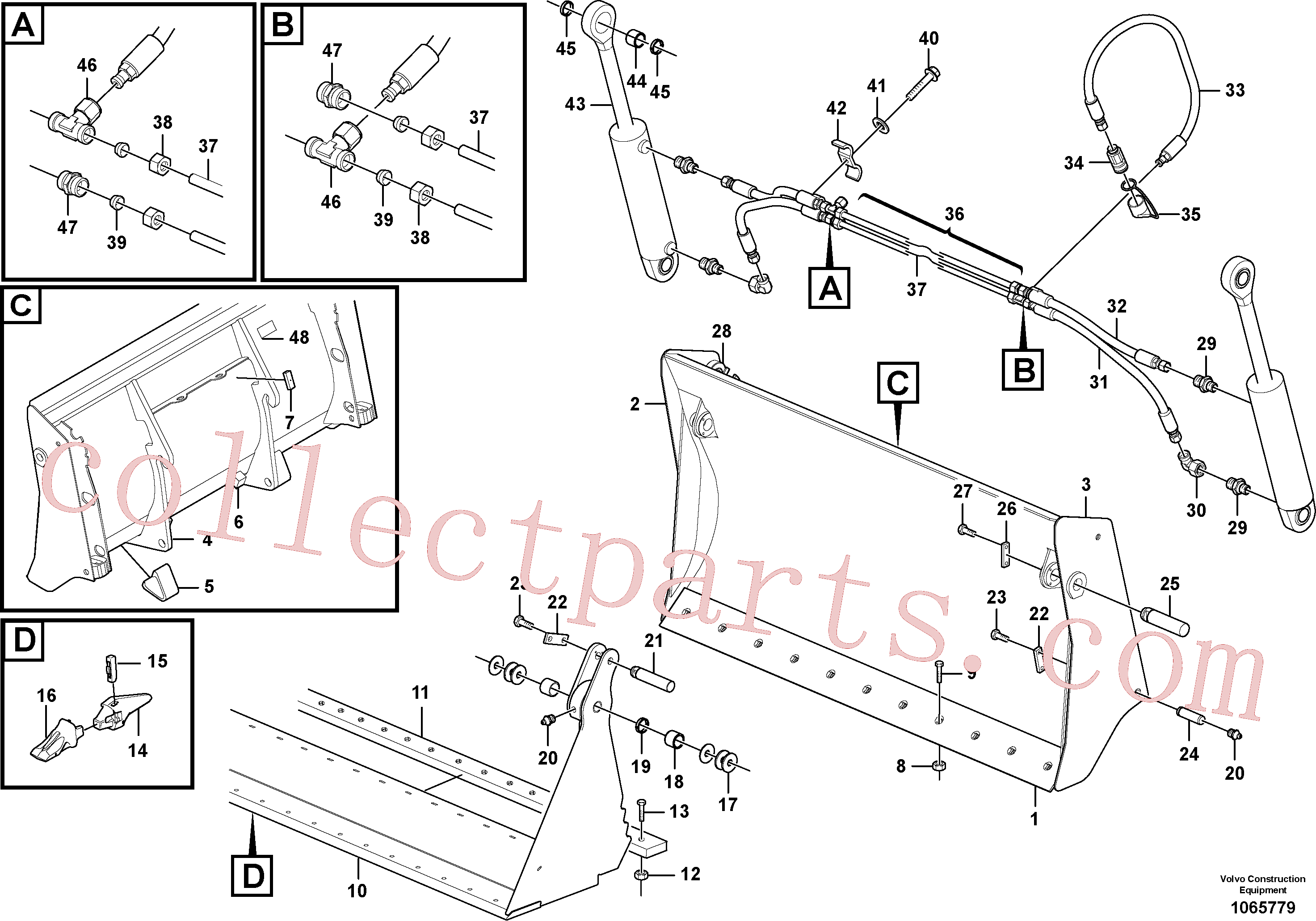 ZM7092973 for Volvo Combined bucket(1065779 assembly)