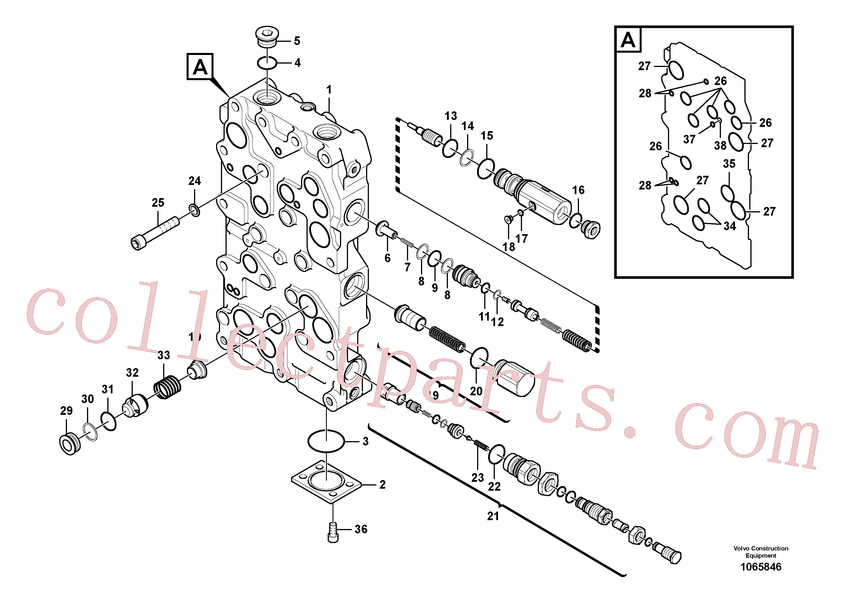 VOE983532 for Volvo Main control valve(1065846 assembly)