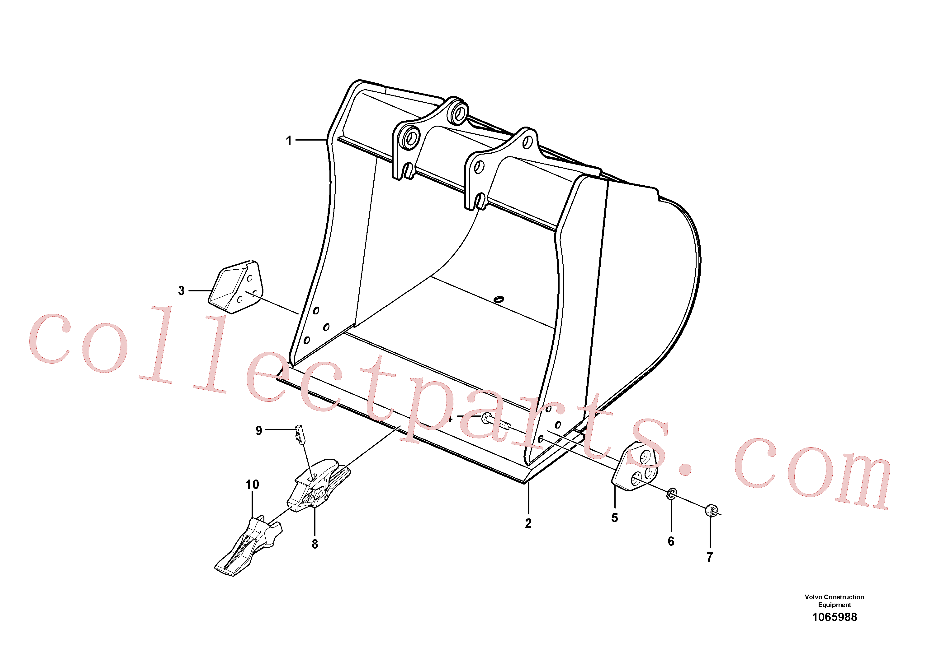 VOE15614395 for Volvo Bucket(1065988 assembly)