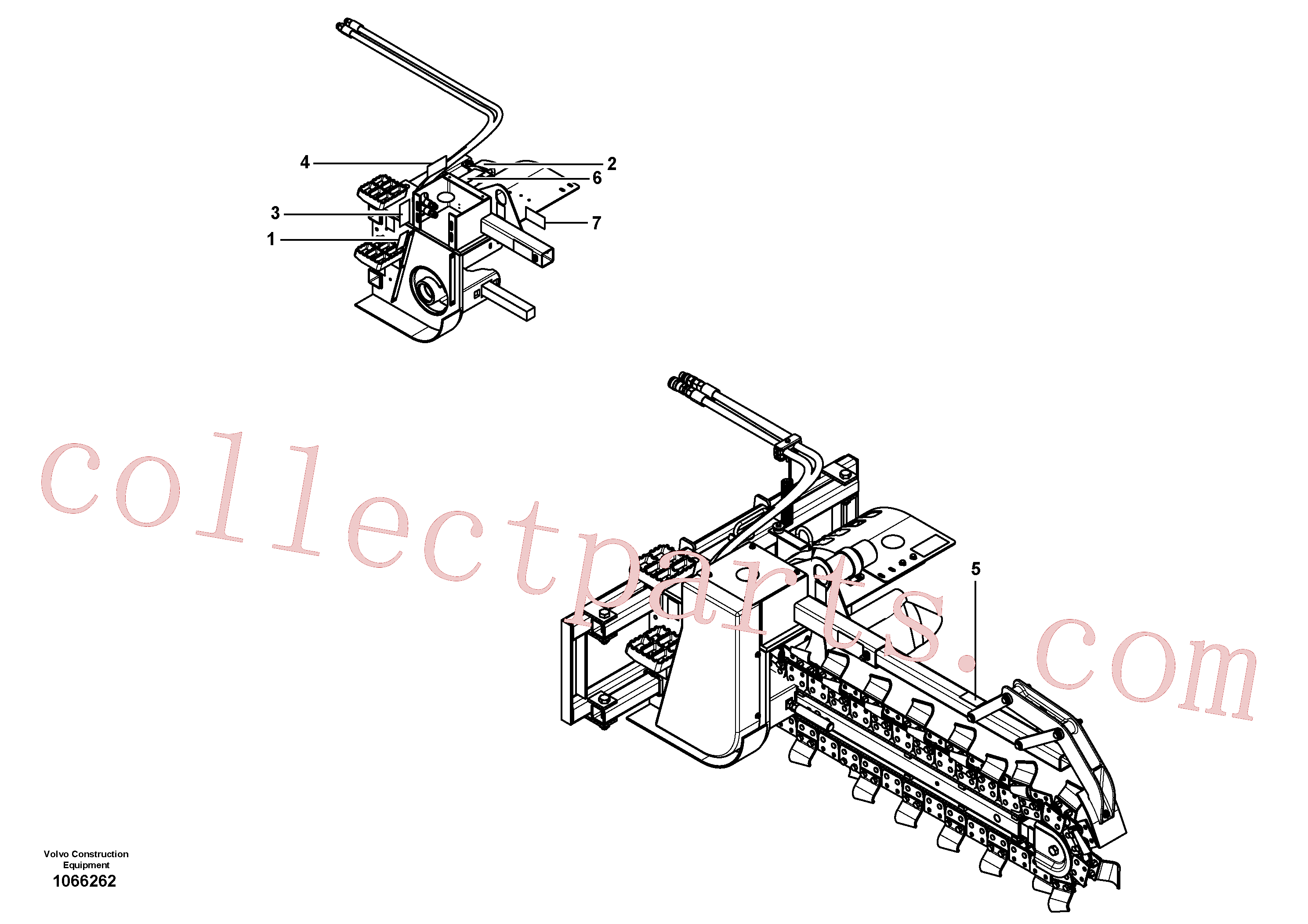 VOE16218101 for Volvo Trencher(1066262 assembly)