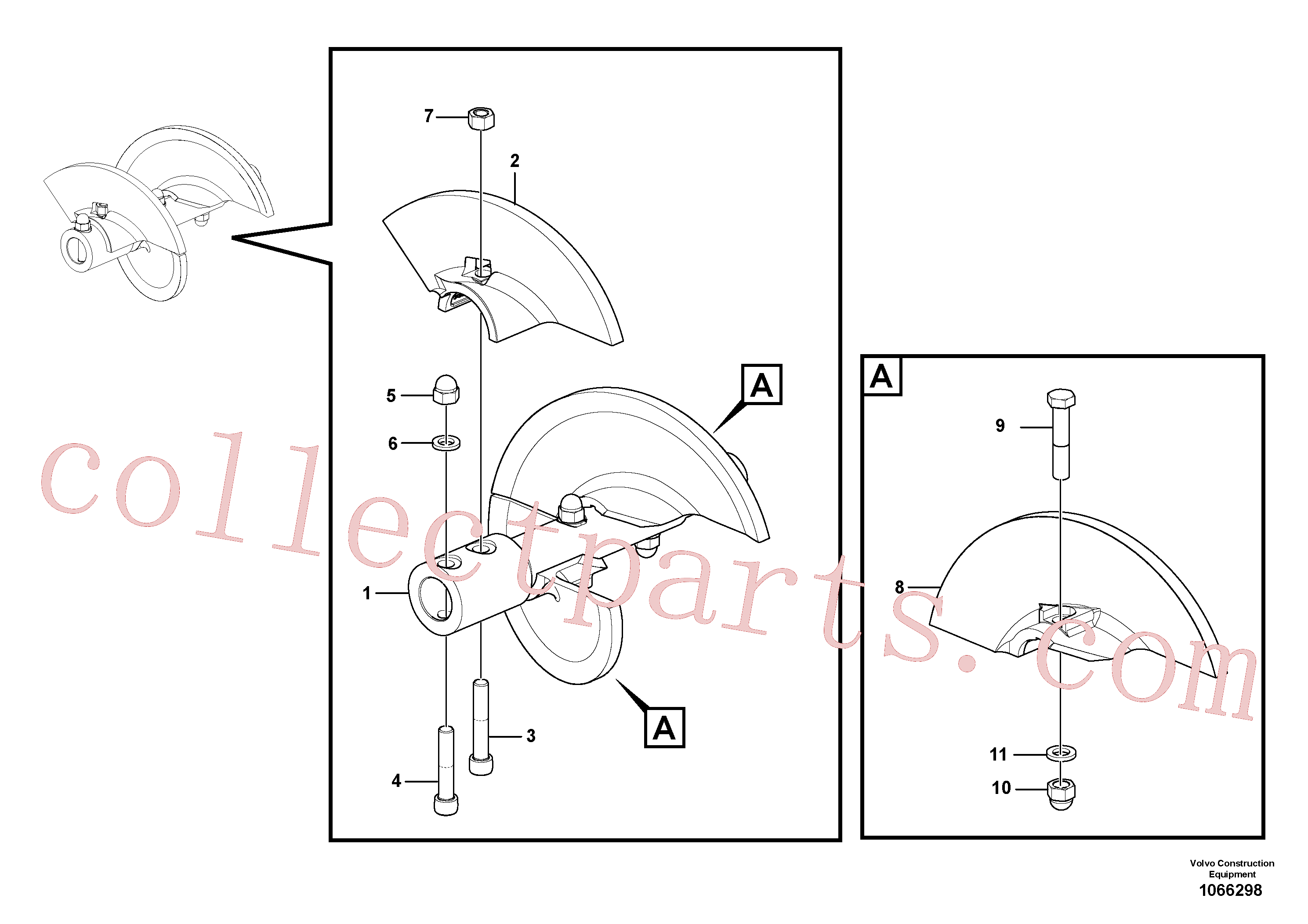 RM58832635 for Volvo Auger extension 442(1066298 assembly)