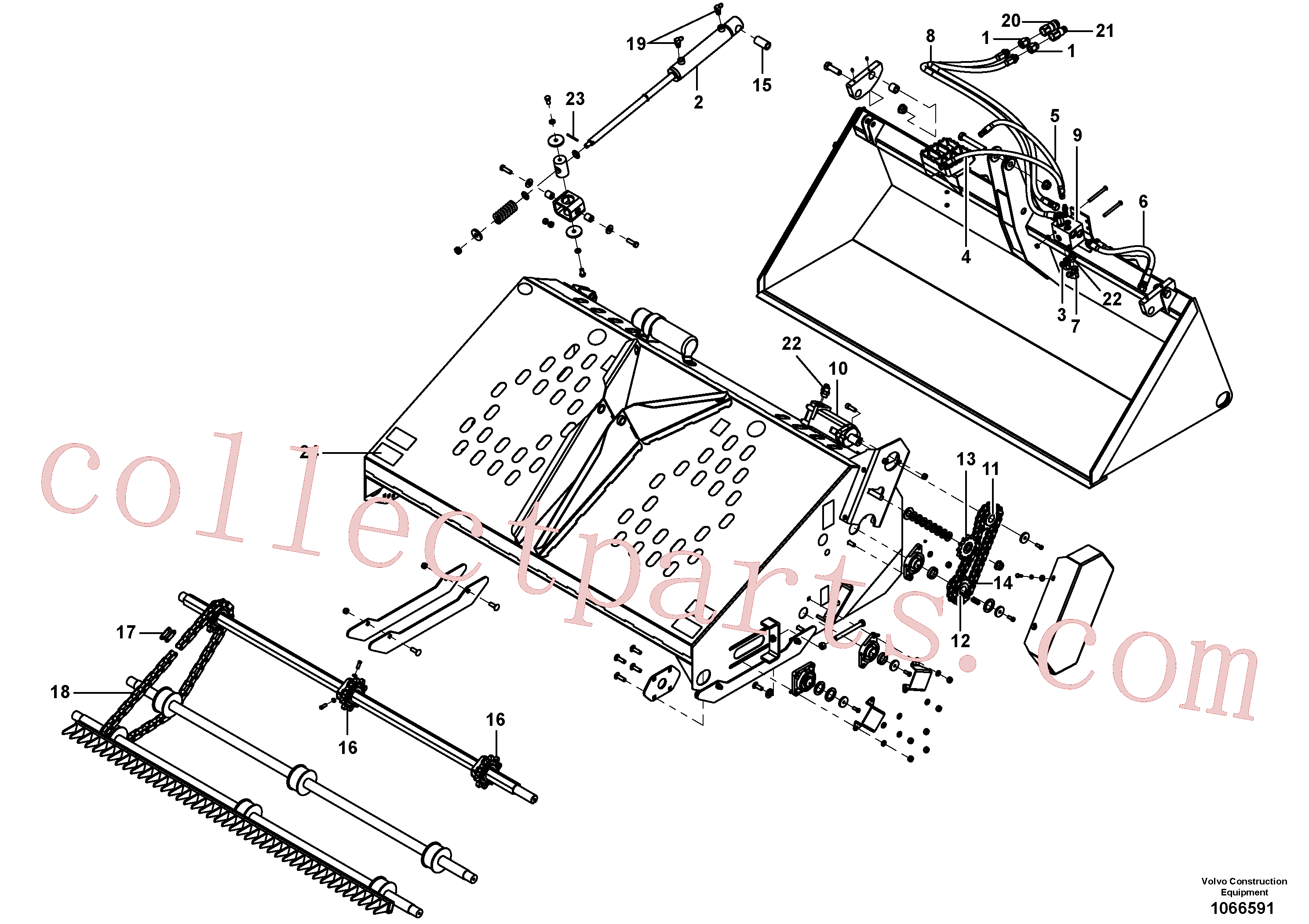 VOE16218101 for Volvo Auto rake(1066591 assembly)