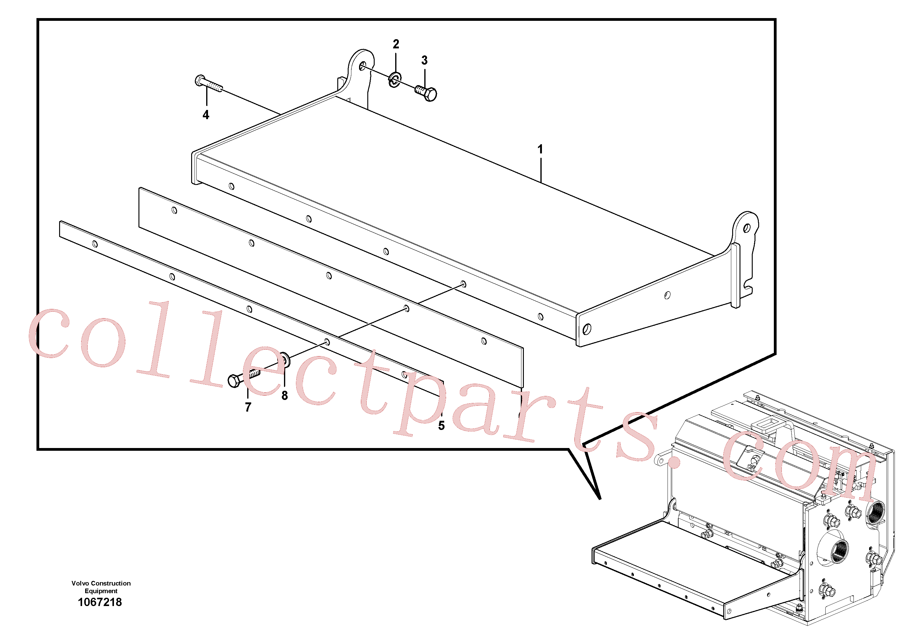 RM80765019 for Volvo Catwalk(1067218 assembly)