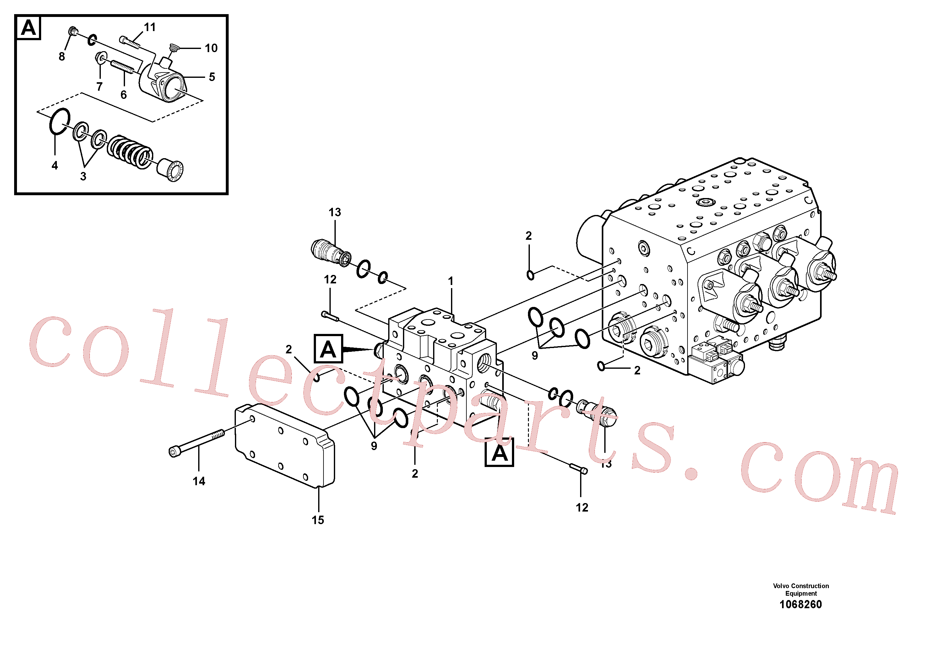 VOE11711004 for Volvo Hydraulic valve(1068260 assembly)