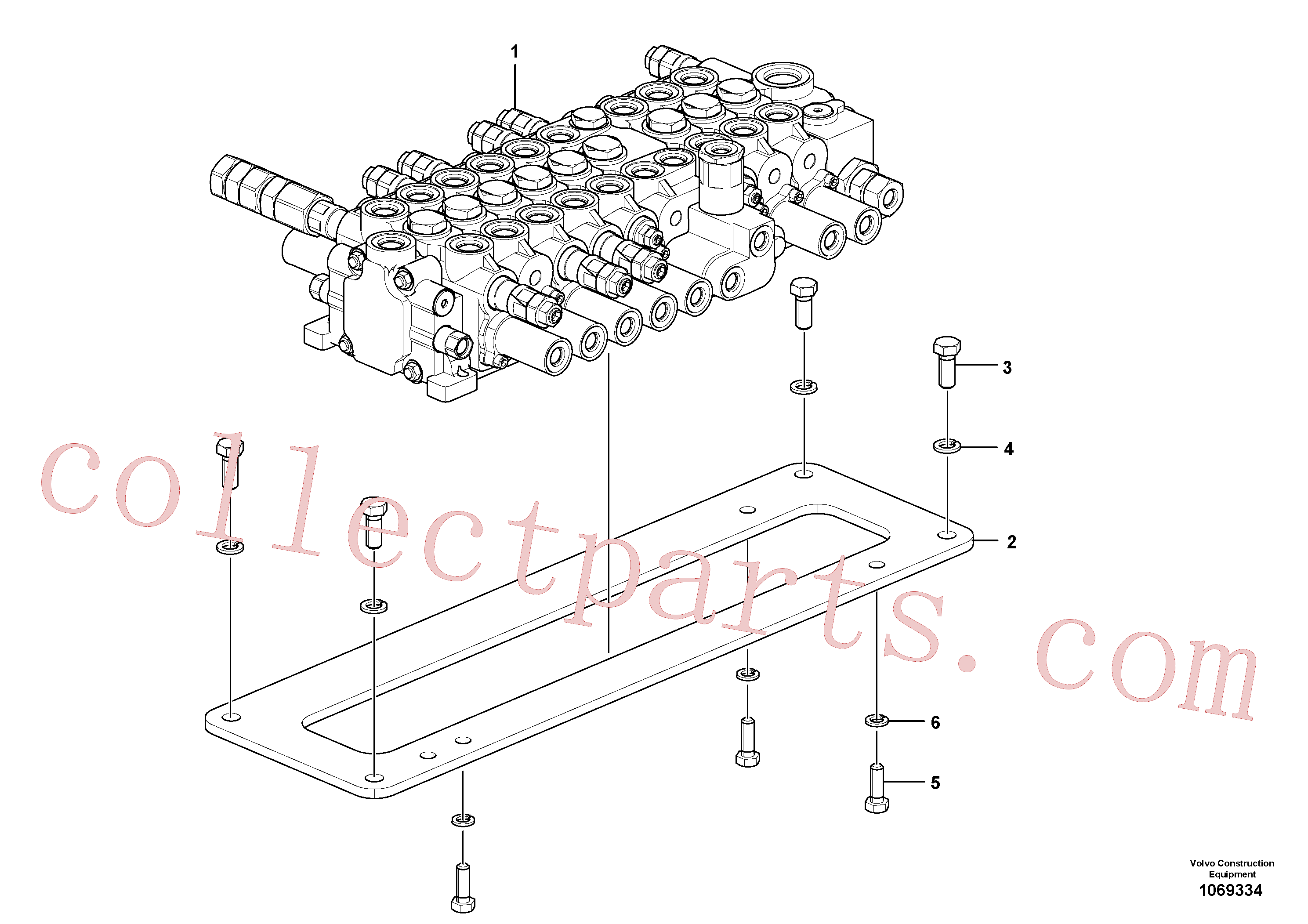 VOE14689325 for Volvo Control valve with fitting parts.(1069334 assembly)