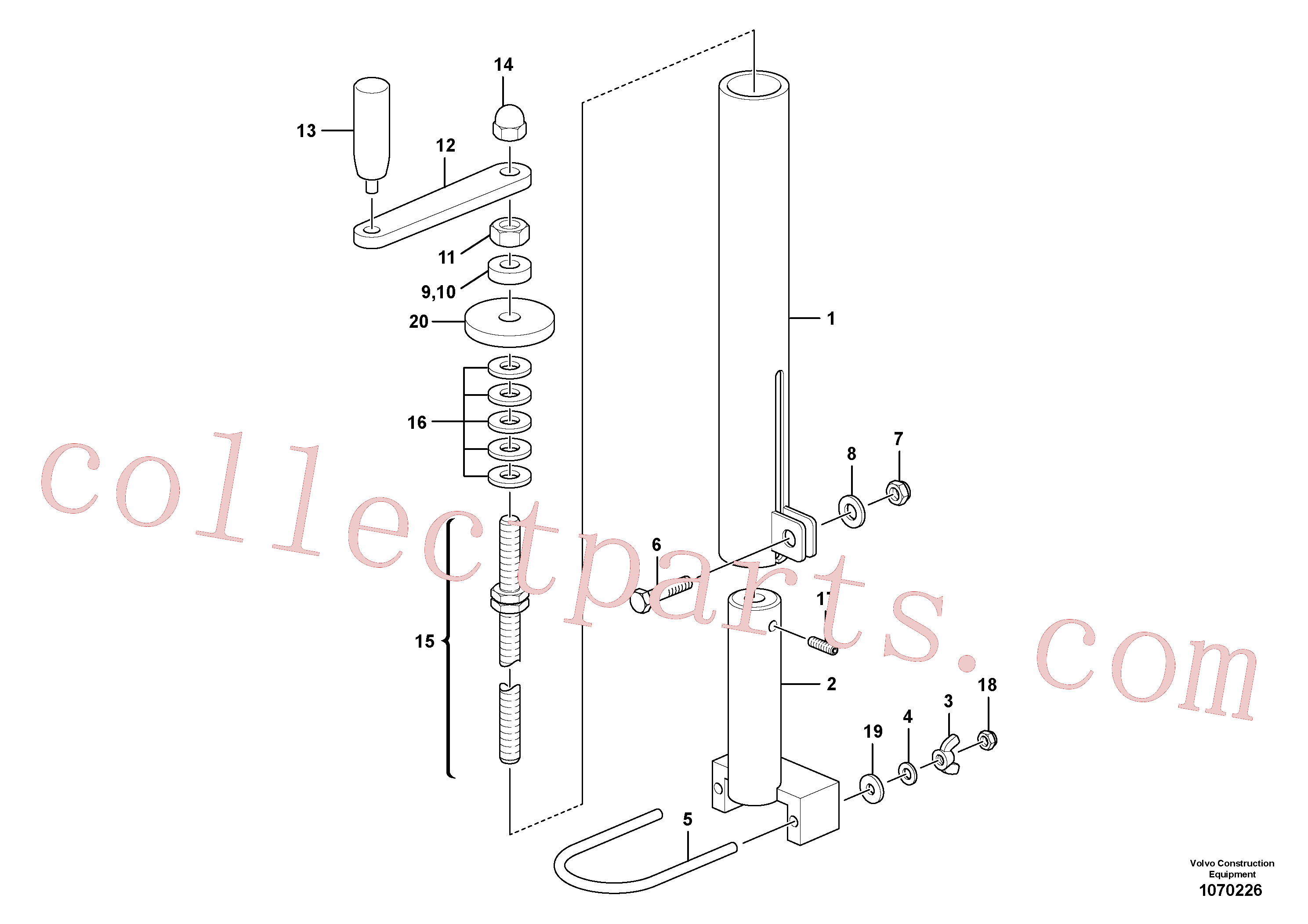 RM14083810 for Volvo Mechanical Control Assembly(1070226 assembly)