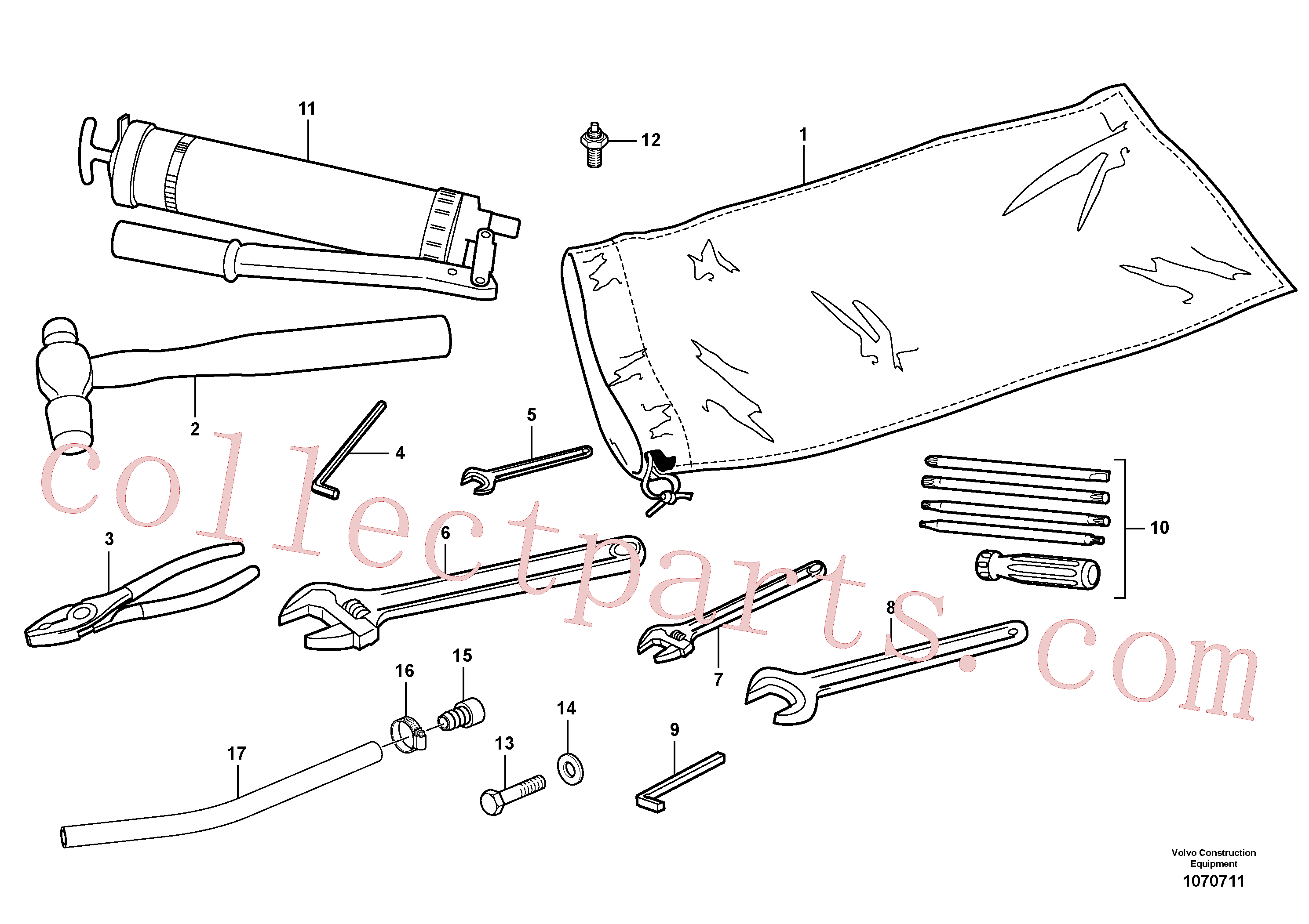 VOE962213 for Volvo Tools(1070711 assembly)