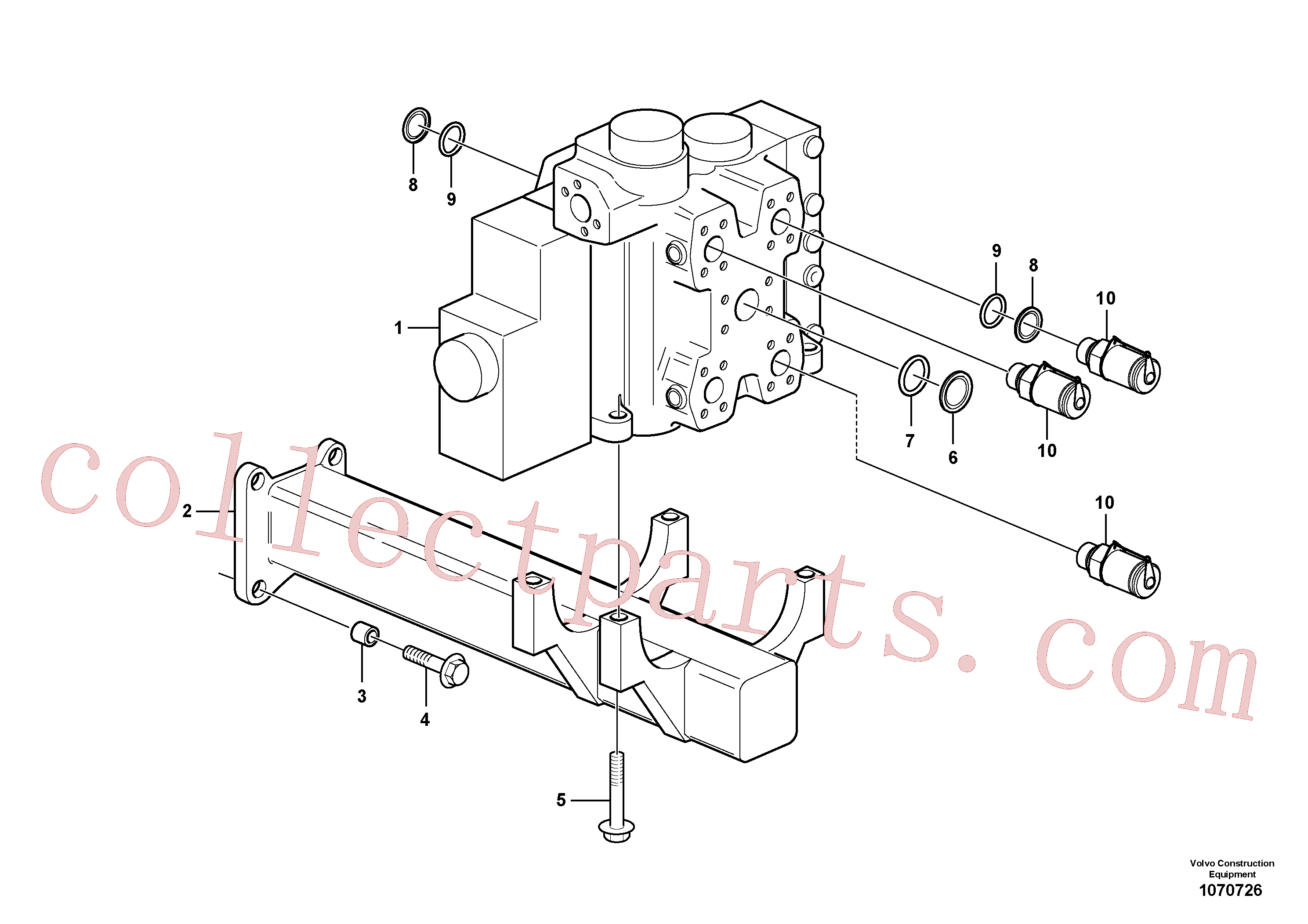 VOE11108798 for Volvo Control valve with fitting parts.(1070726 assembly)