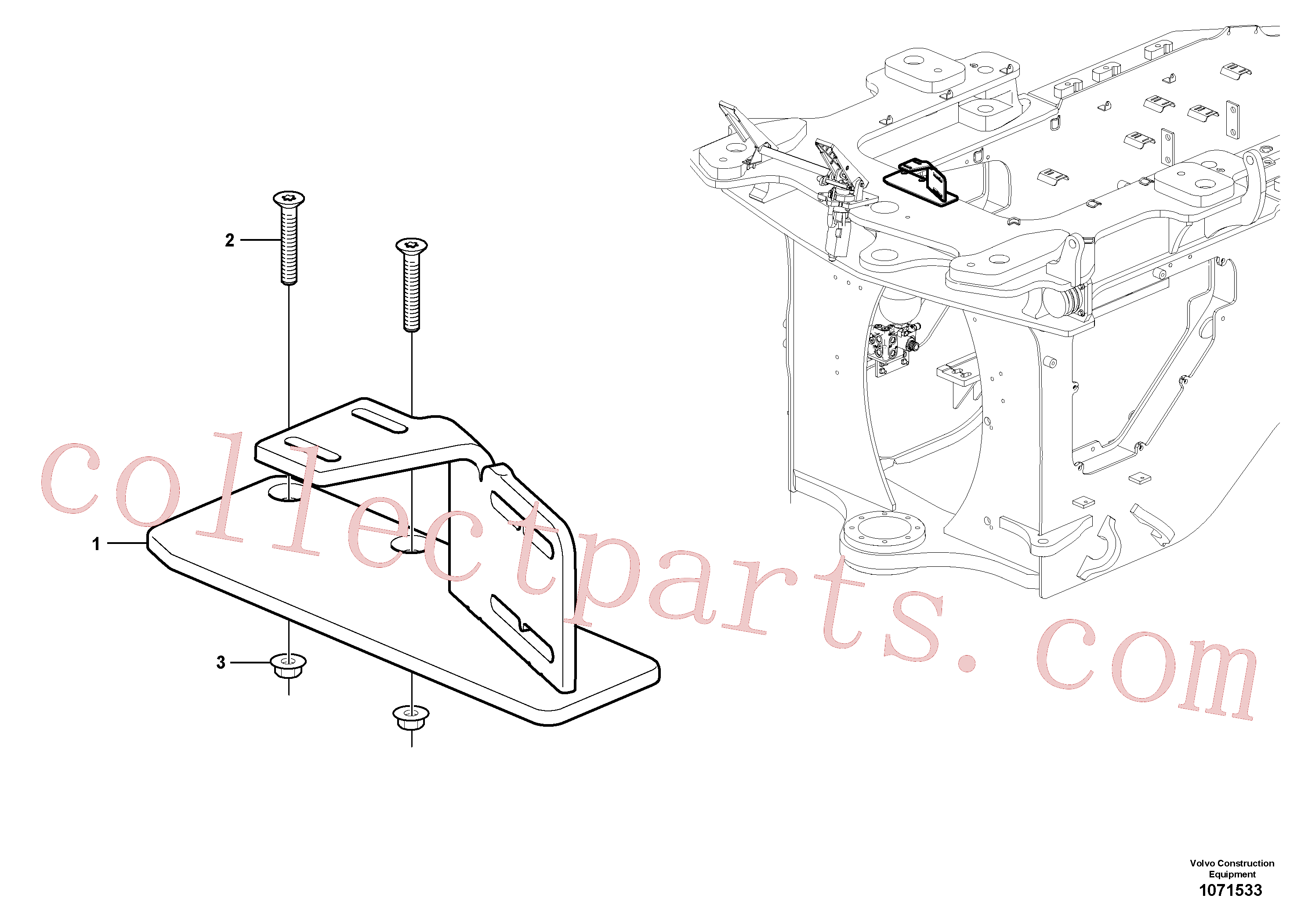 VOE60113140 for Volvo Hose protection(1071533 assembly)
