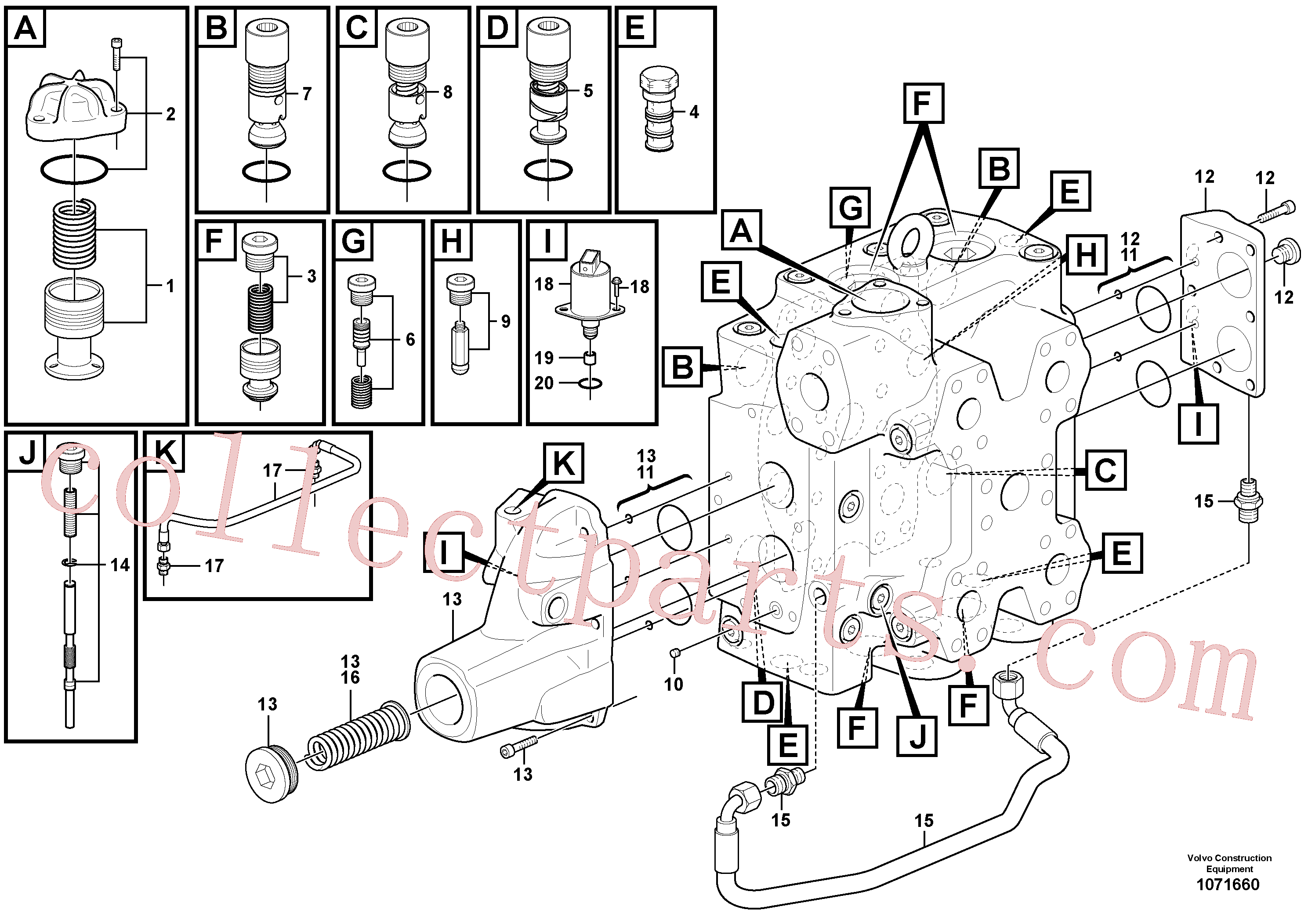 VOE15165436 for Volvo Control valve(1071660 assembly)