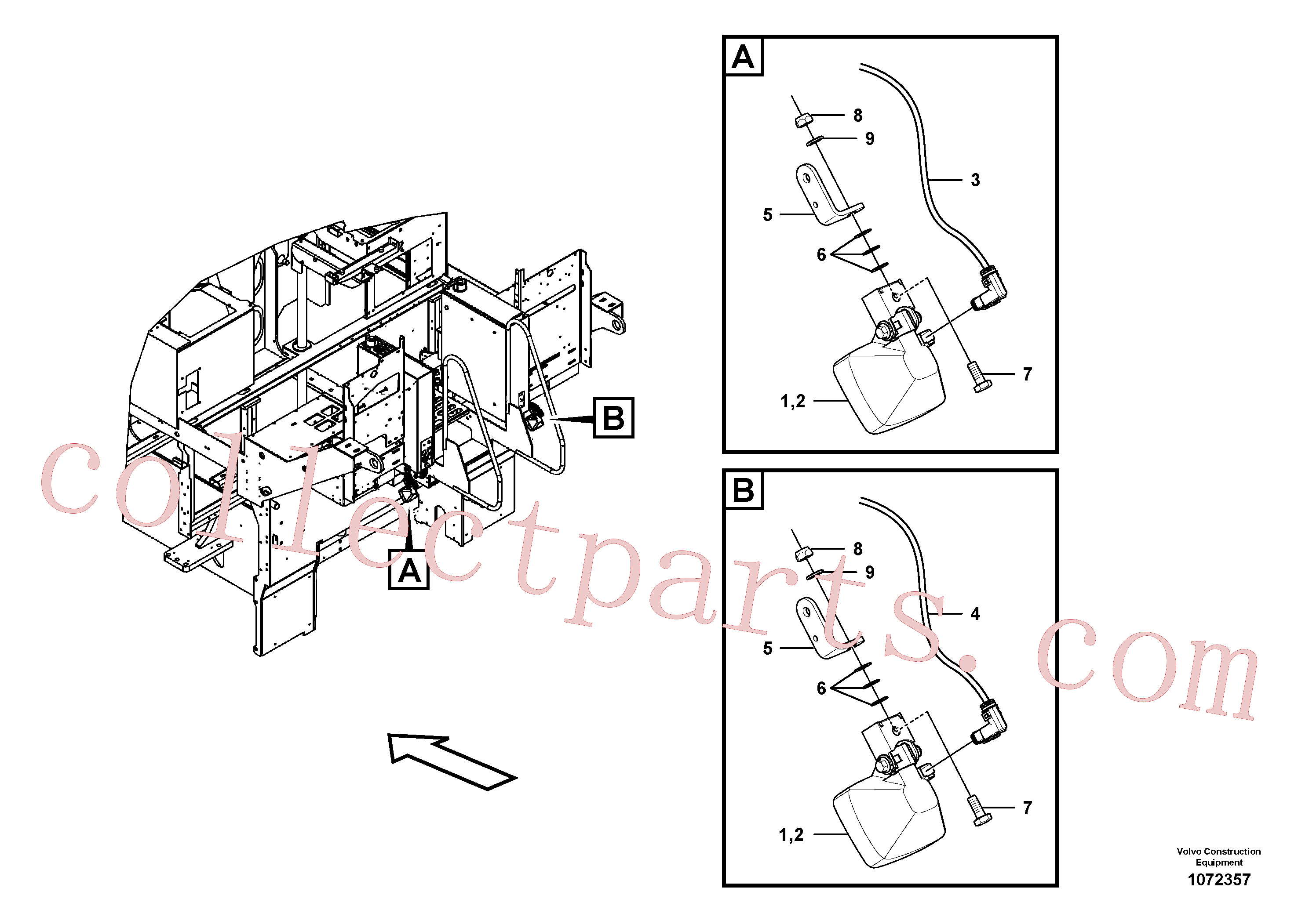 RM14141105 for Volvo Auger lighting(1072357 assembly)