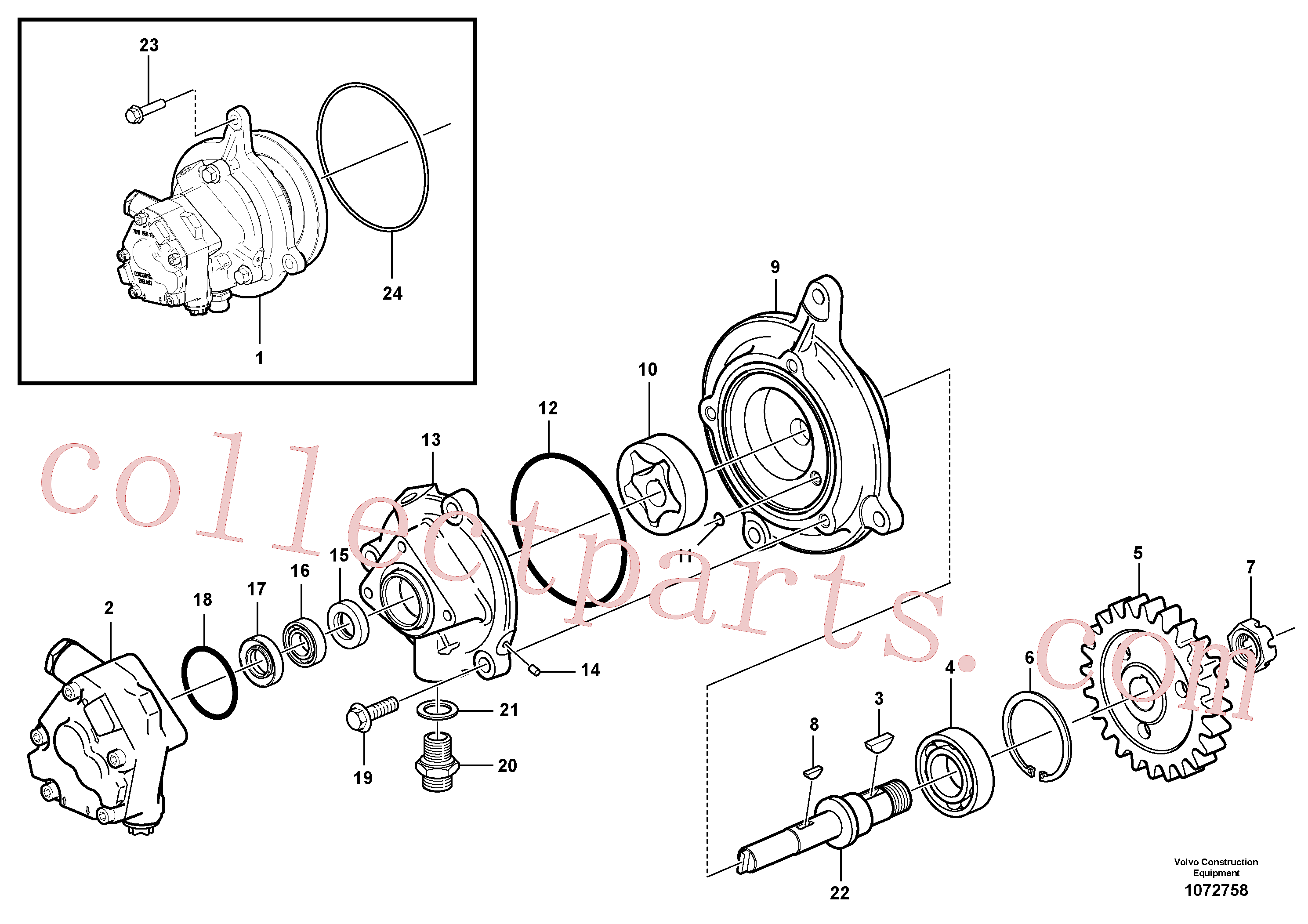 VOE925258 for Volvo Oil pump(1072758 assembly)