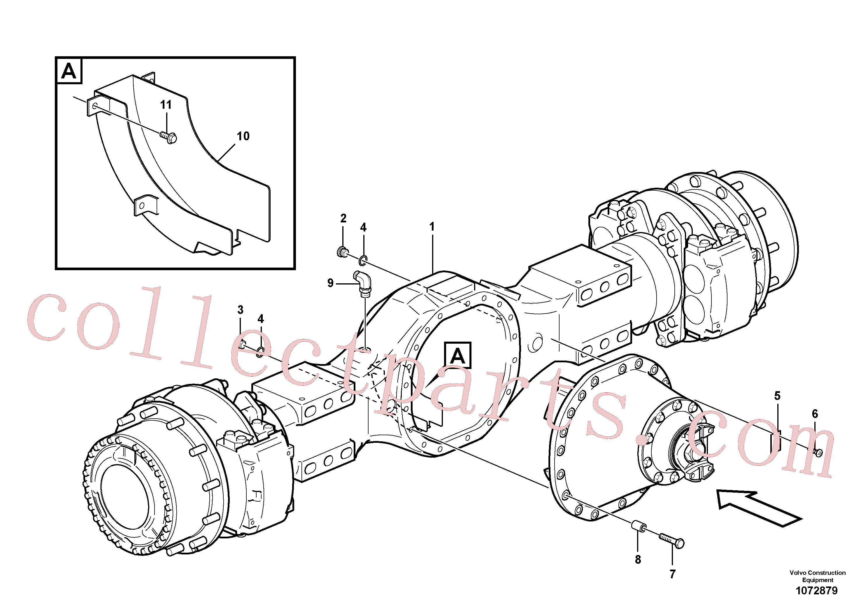 VOE11103034 for Volvo Planetary axle, motor unit(1072879 assembly)