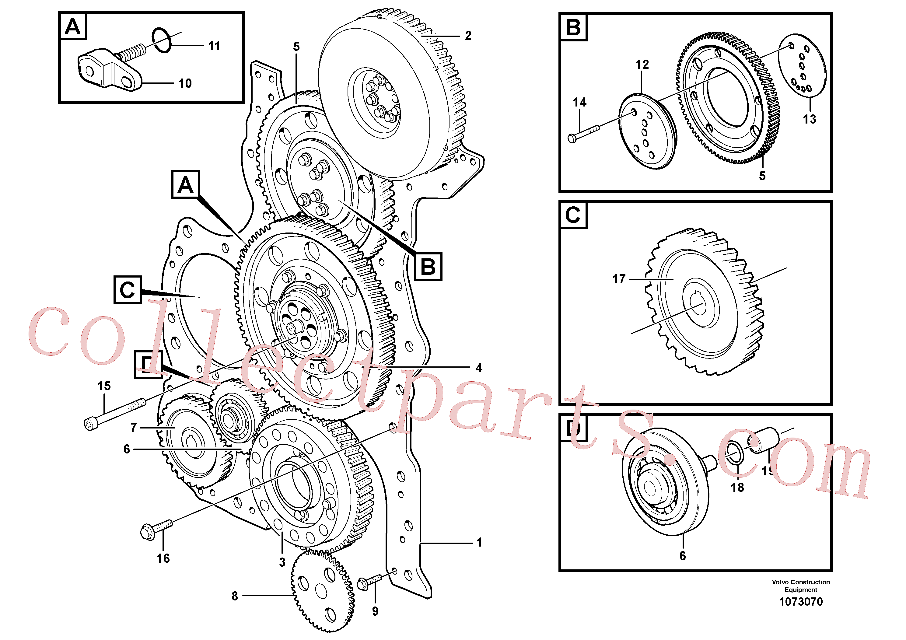 ZM7094911 for Volvo Timing gear casing and gears(1073070 assembly)