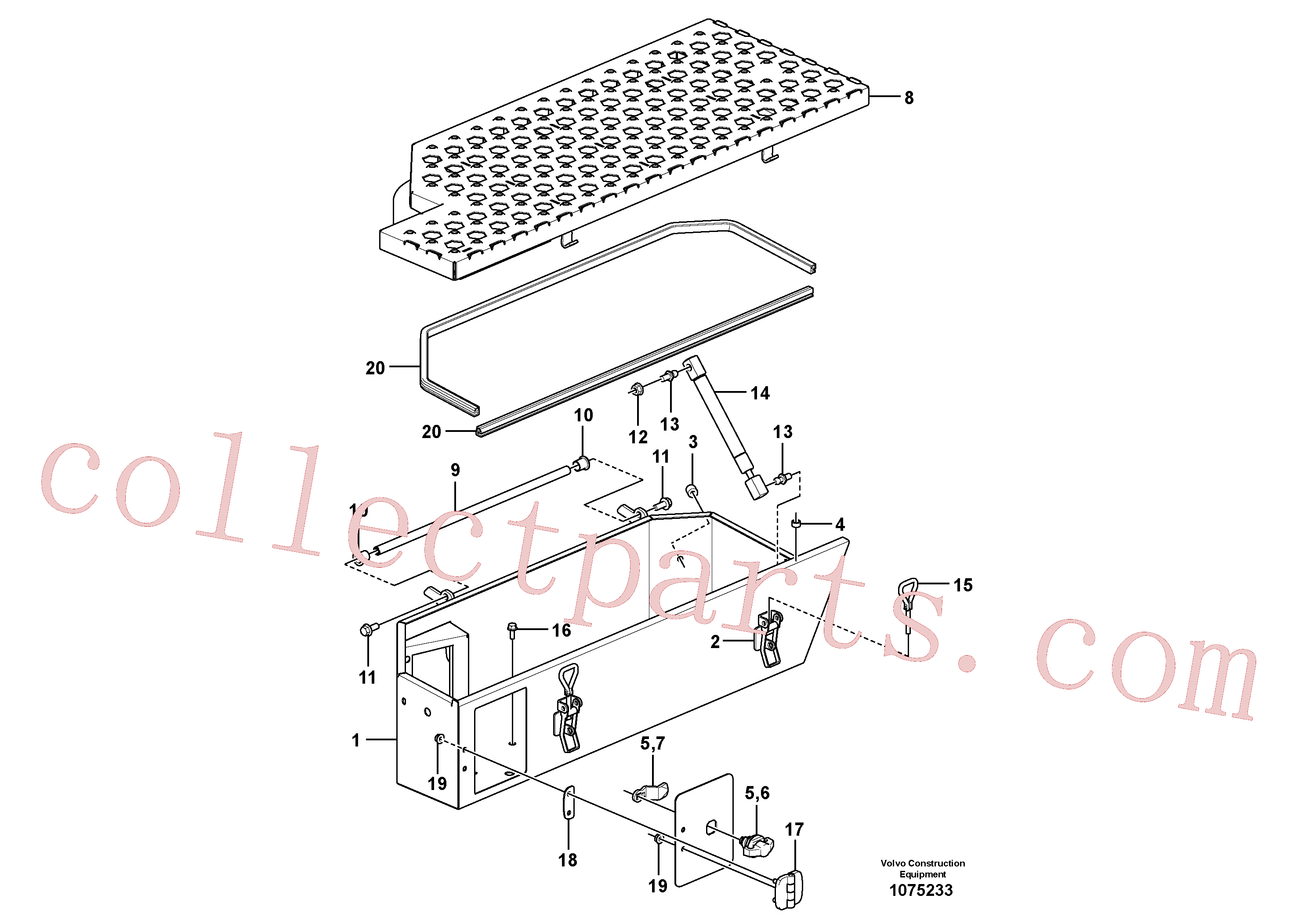 VOE60113140 for Volvo Tool box(1075233 assembly)