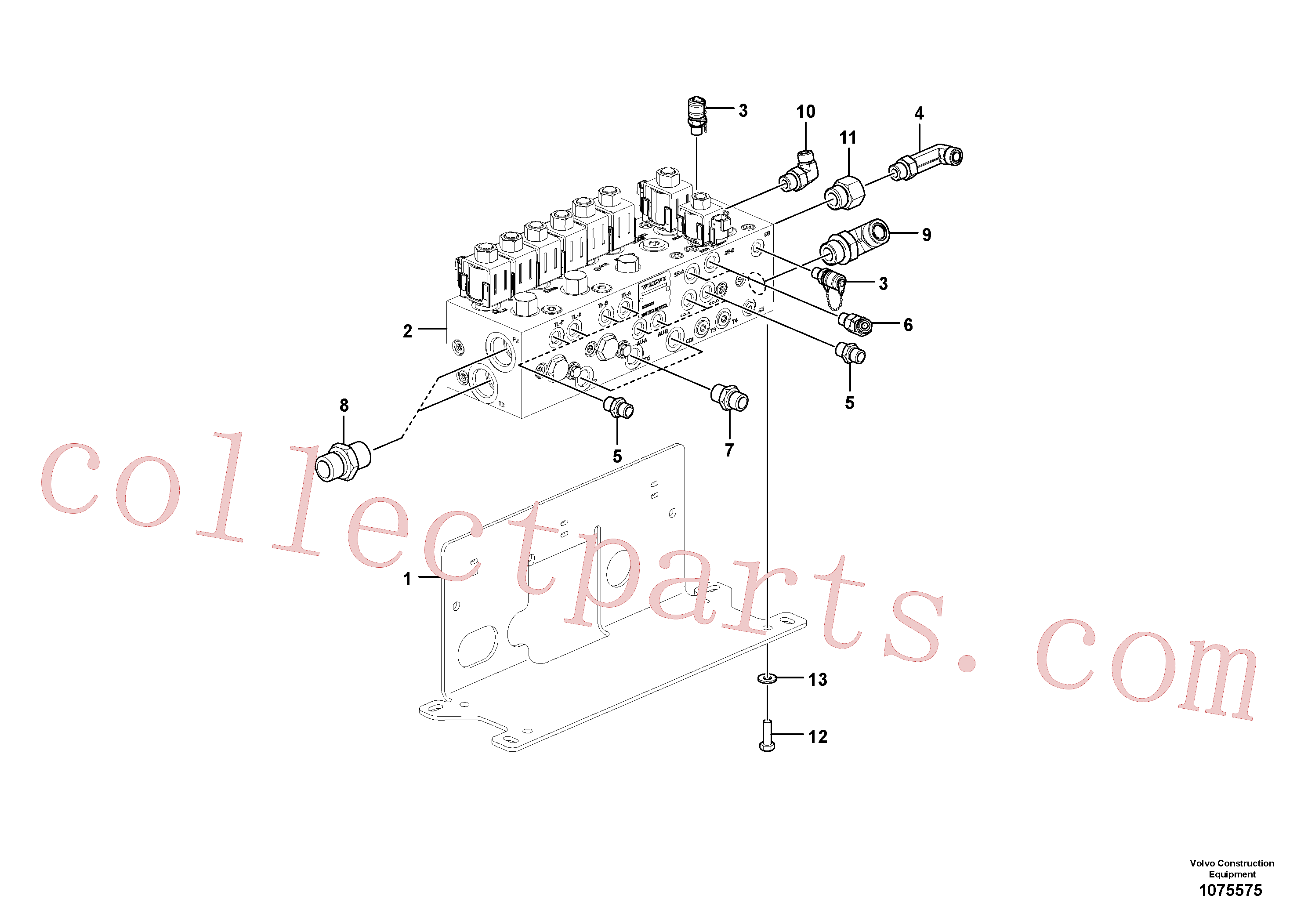 VOE12796392 for Volvo Valve(1075575 assembly)