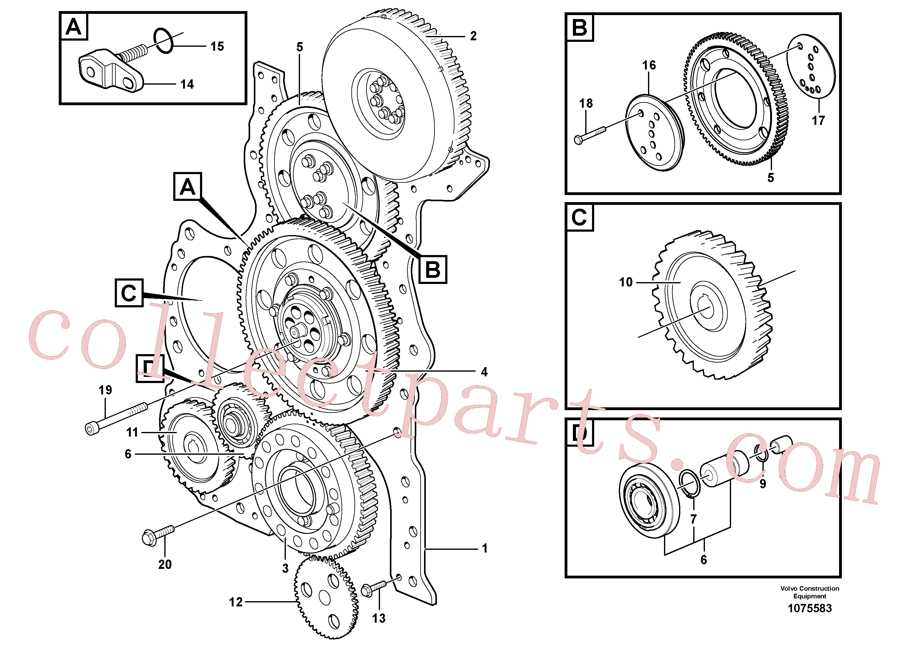 ZM7094911 for Volvo Timing gear casing and gears(1075583 assembly)