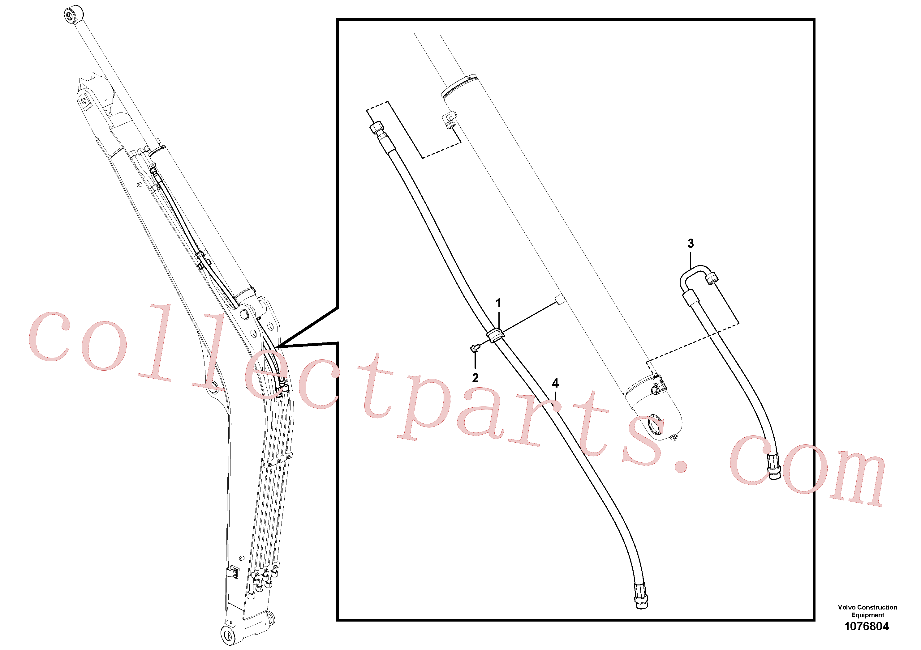 VOE15674500 for Volvo Working hydraulic, boom(1076804 assembly)