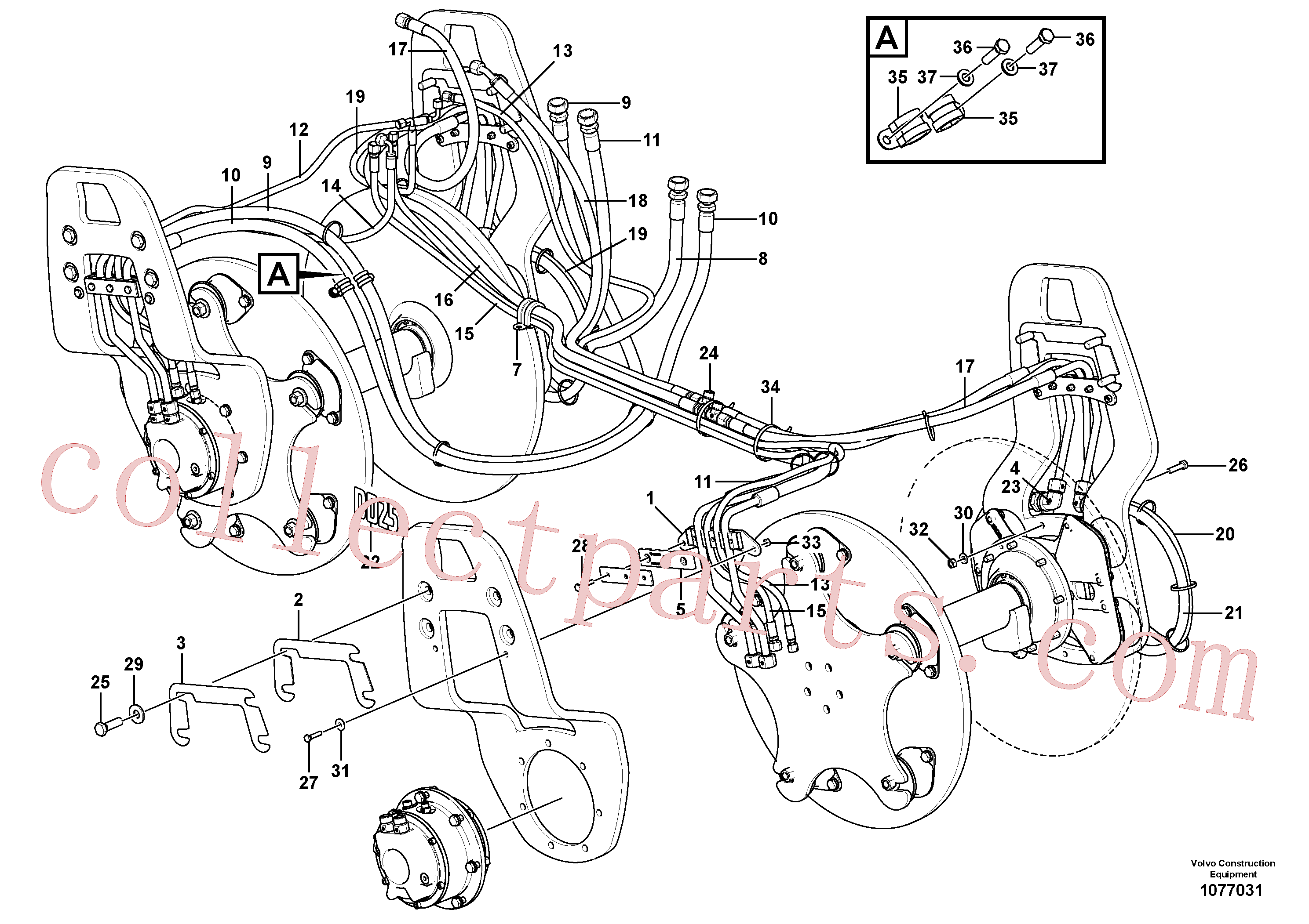VOE937700 for Volvo Drum installation(1077031 assembly)