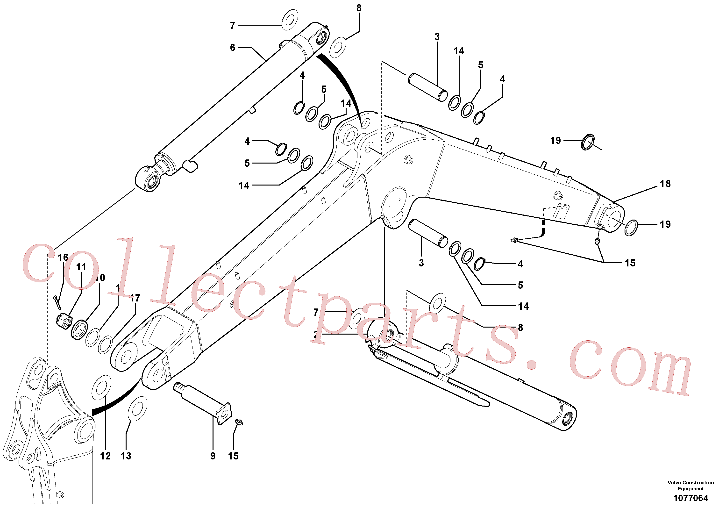 VOE11801536 for Volvo Boom(1077064 assembly)