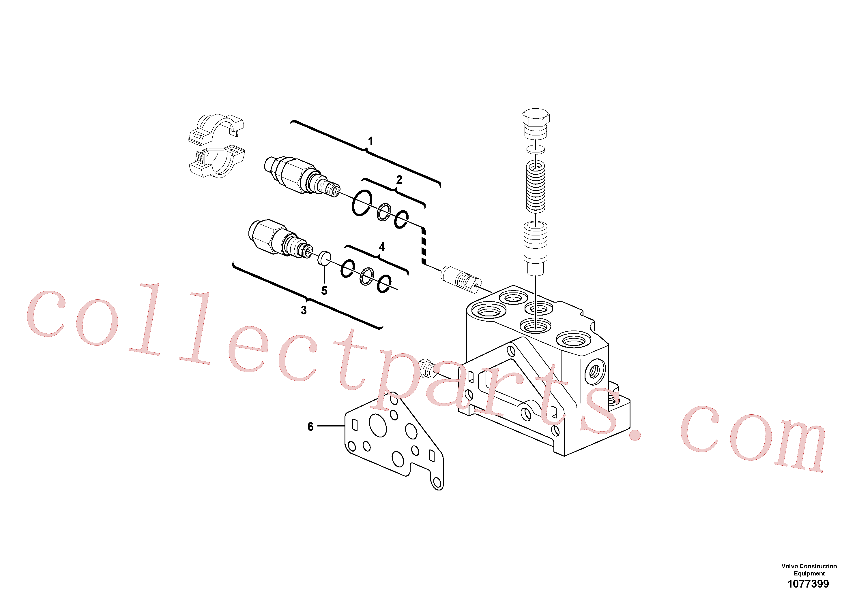 VOE11802877 for Volvo Valve section(1077399 assembly)