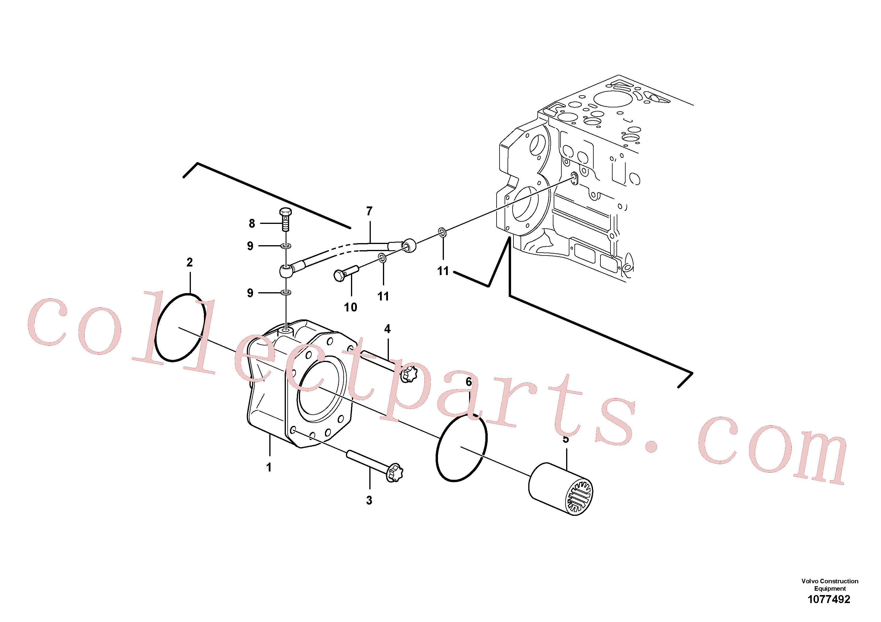 VOE20459170 for Volvo Pump drive power take-off(1077492 assembly)