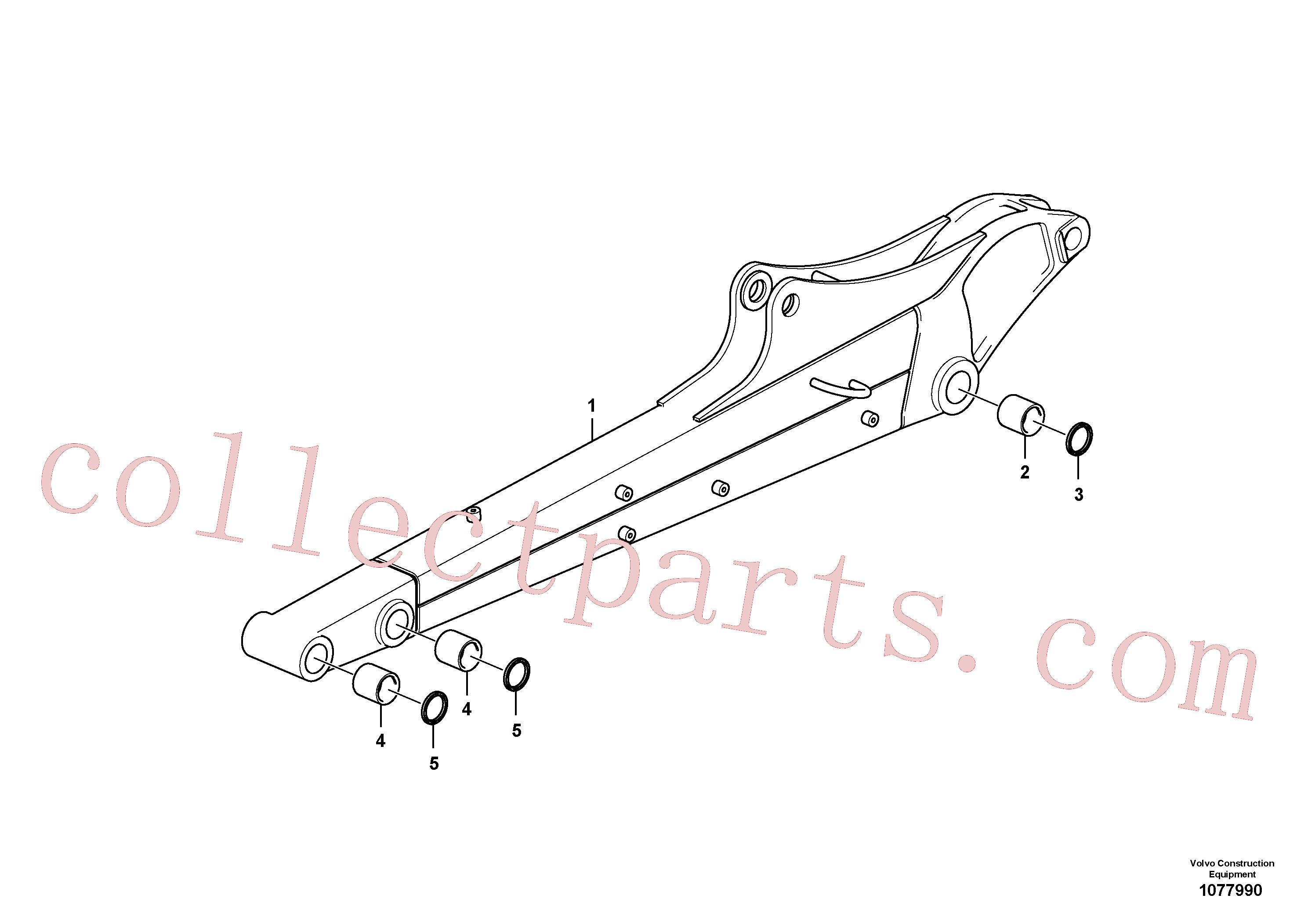 VOE15666180 for Volvo Dipper arm(1077990 assembly)
