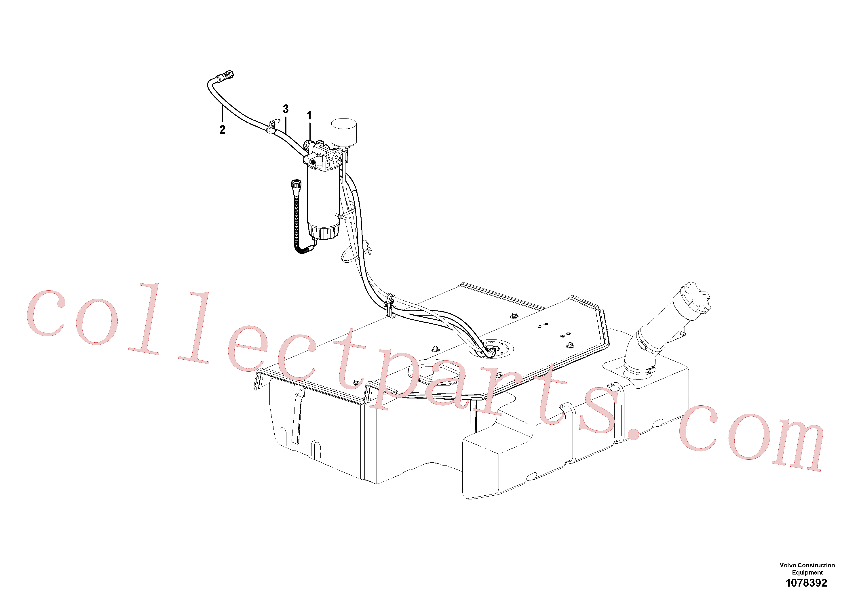 VOE11016043 for Volvo Fuel pipes(1078392 assembly)