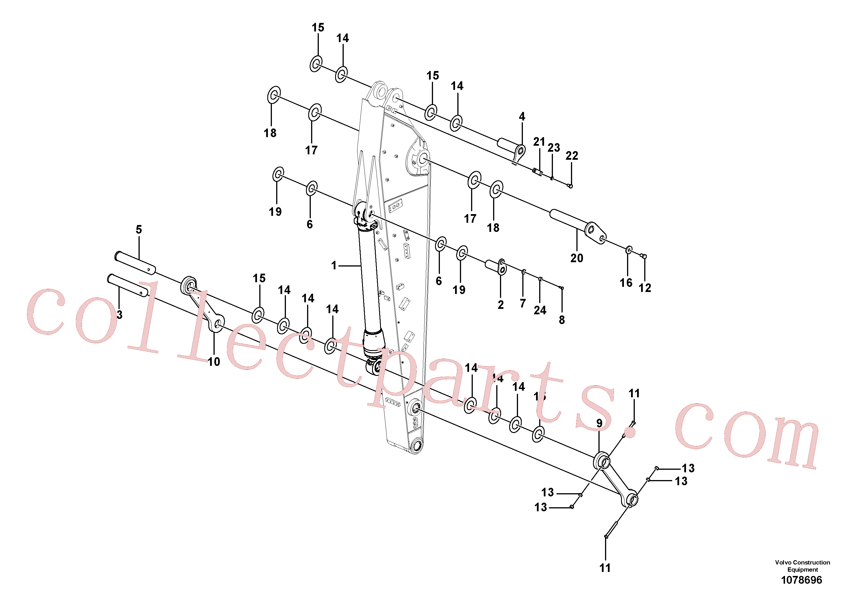 VOE14630955 for Volvo Links to dipper arm(1078696 assembly)