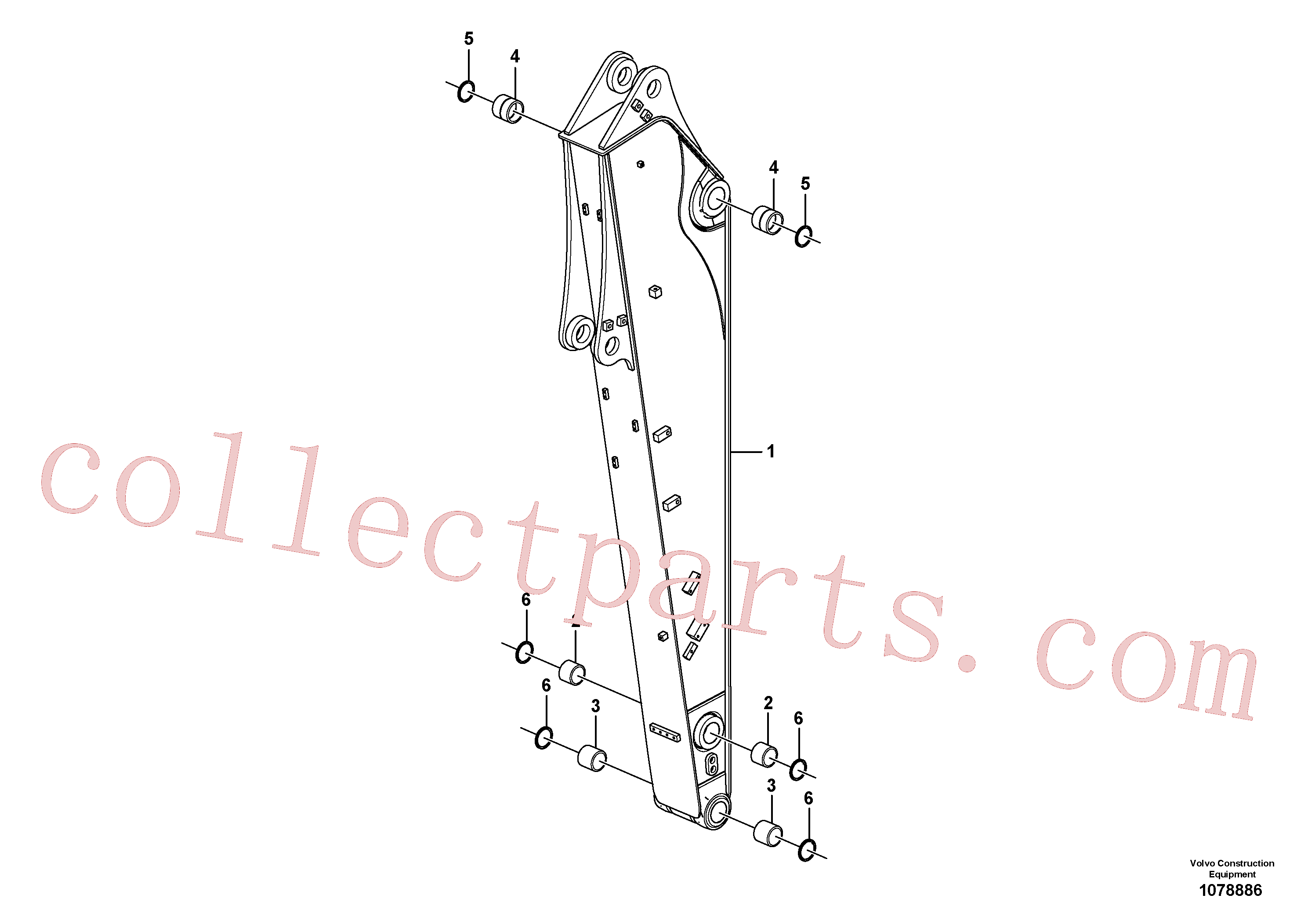 VOE14546057 for Volvo Dipper arm(1078886 assembly)