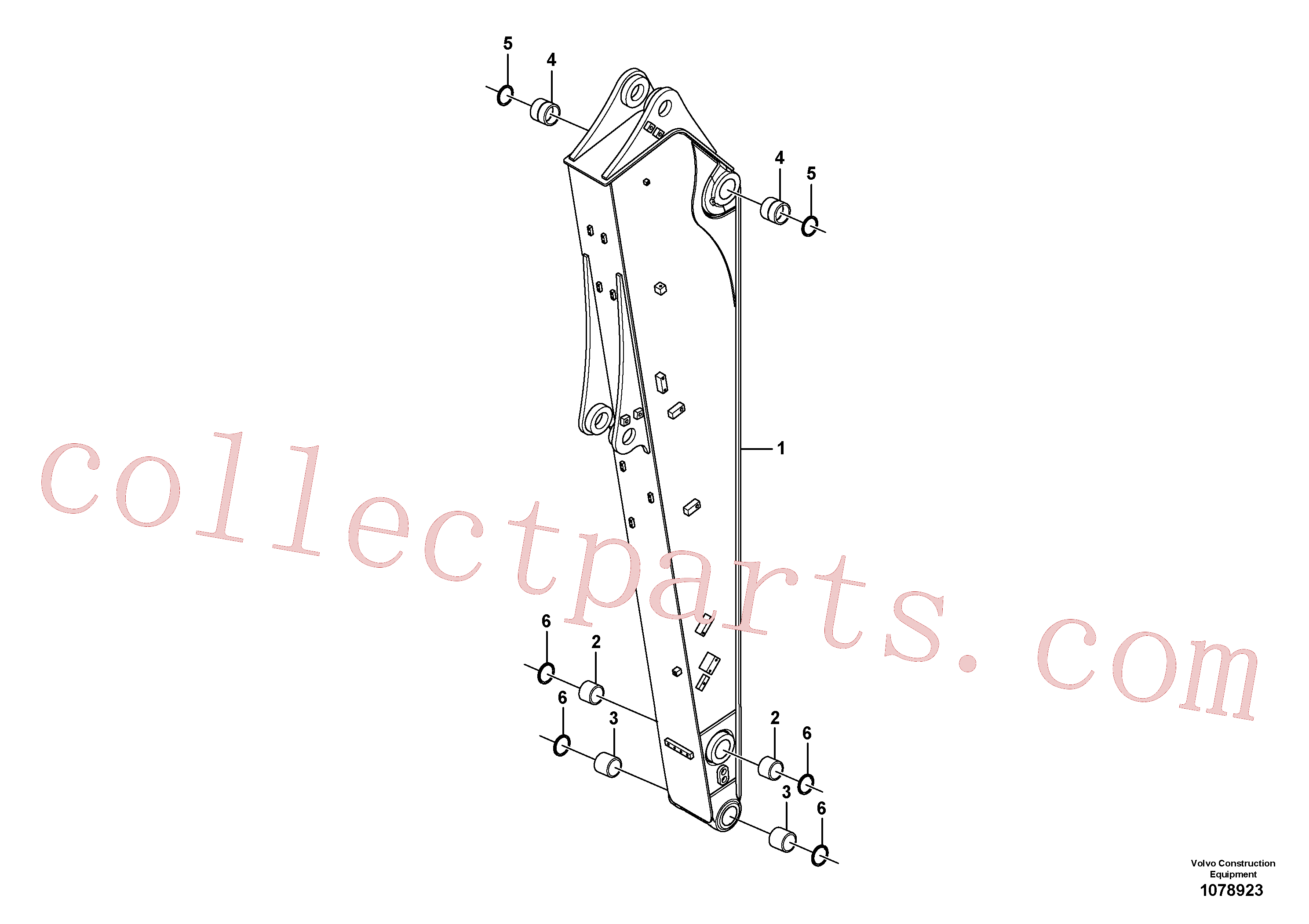 VOE14546057 for Volvo Dipper arm(1078923 assembly)