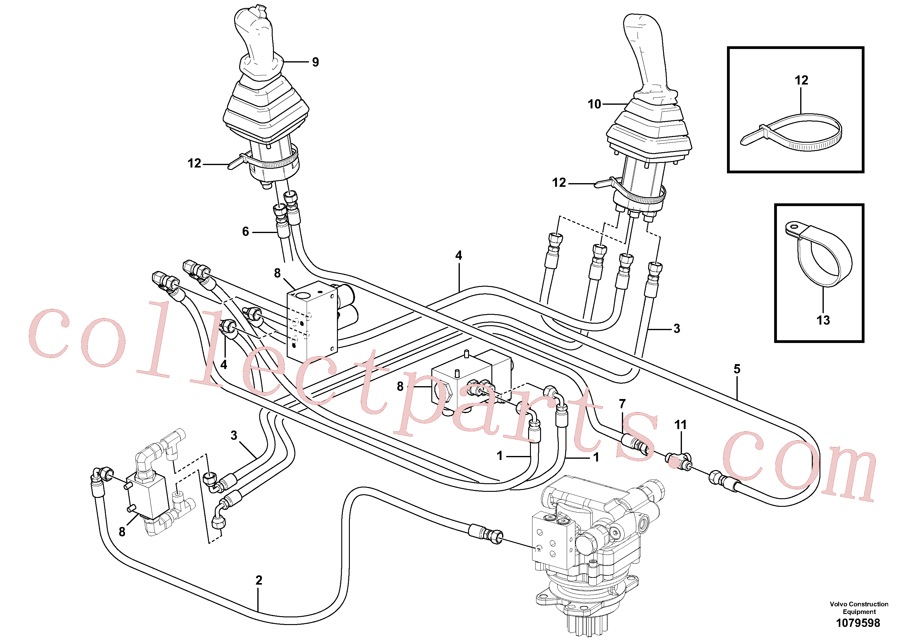 VOE936294 for Volvo Hydraulic circuit ( low pressure )(1079598 assembly)