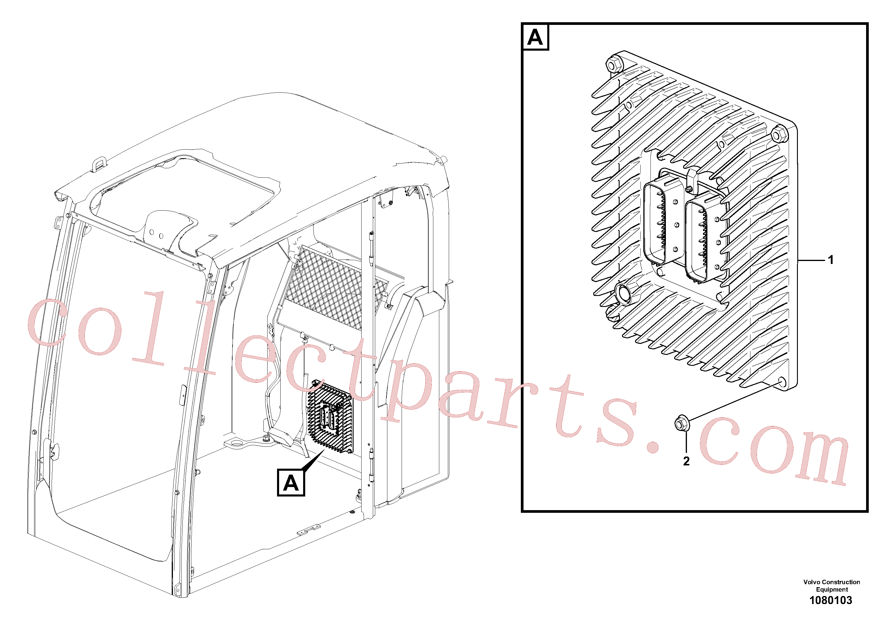 VOE60113140 for Volvo Electronic unit(1080103 assembly)