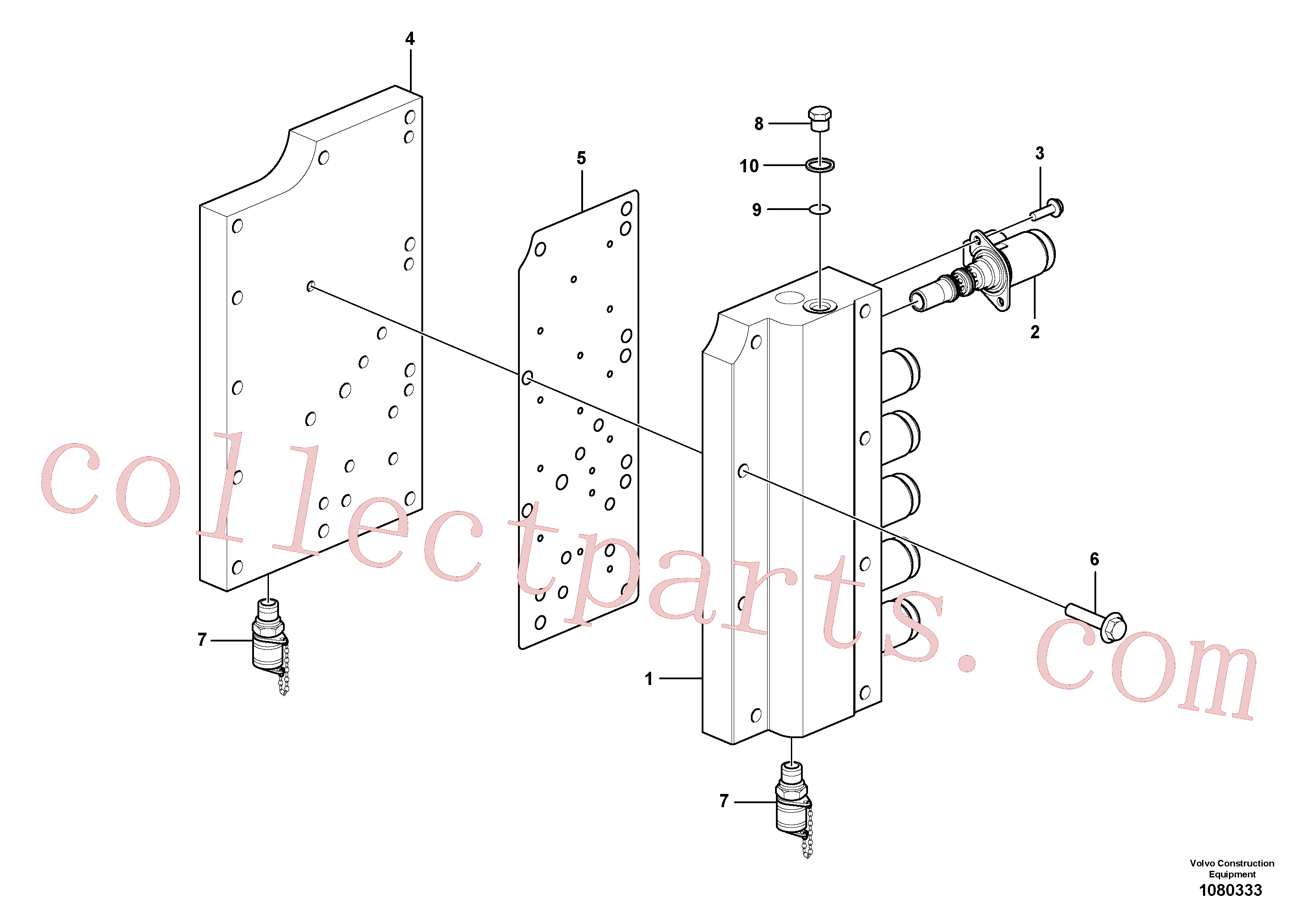 VOE969404 for Volvo Gear selector valve(1080333 assembly)