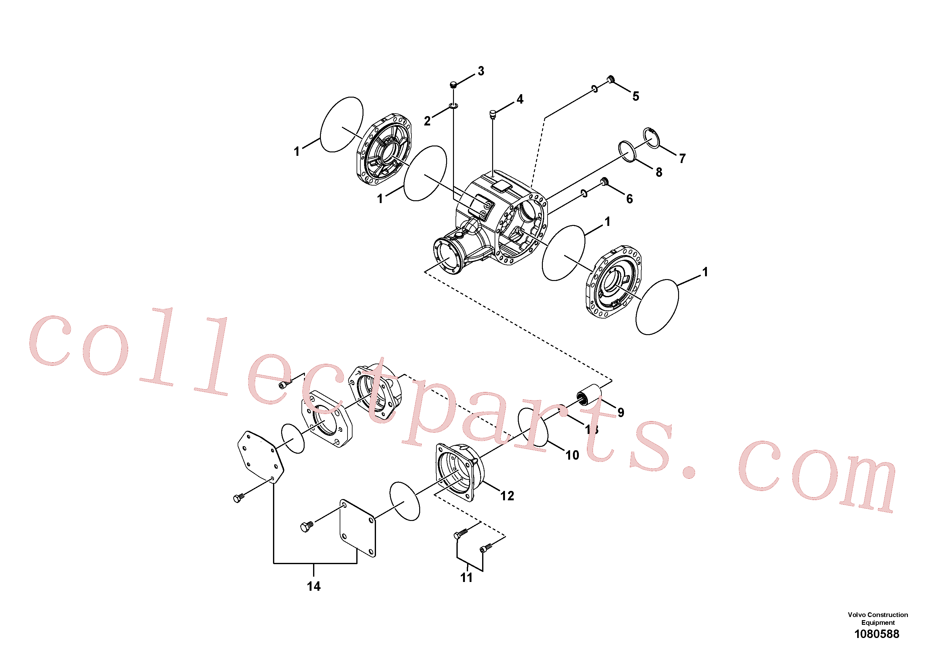 RM58916628 for Volvo Axle(1080588 assembly)