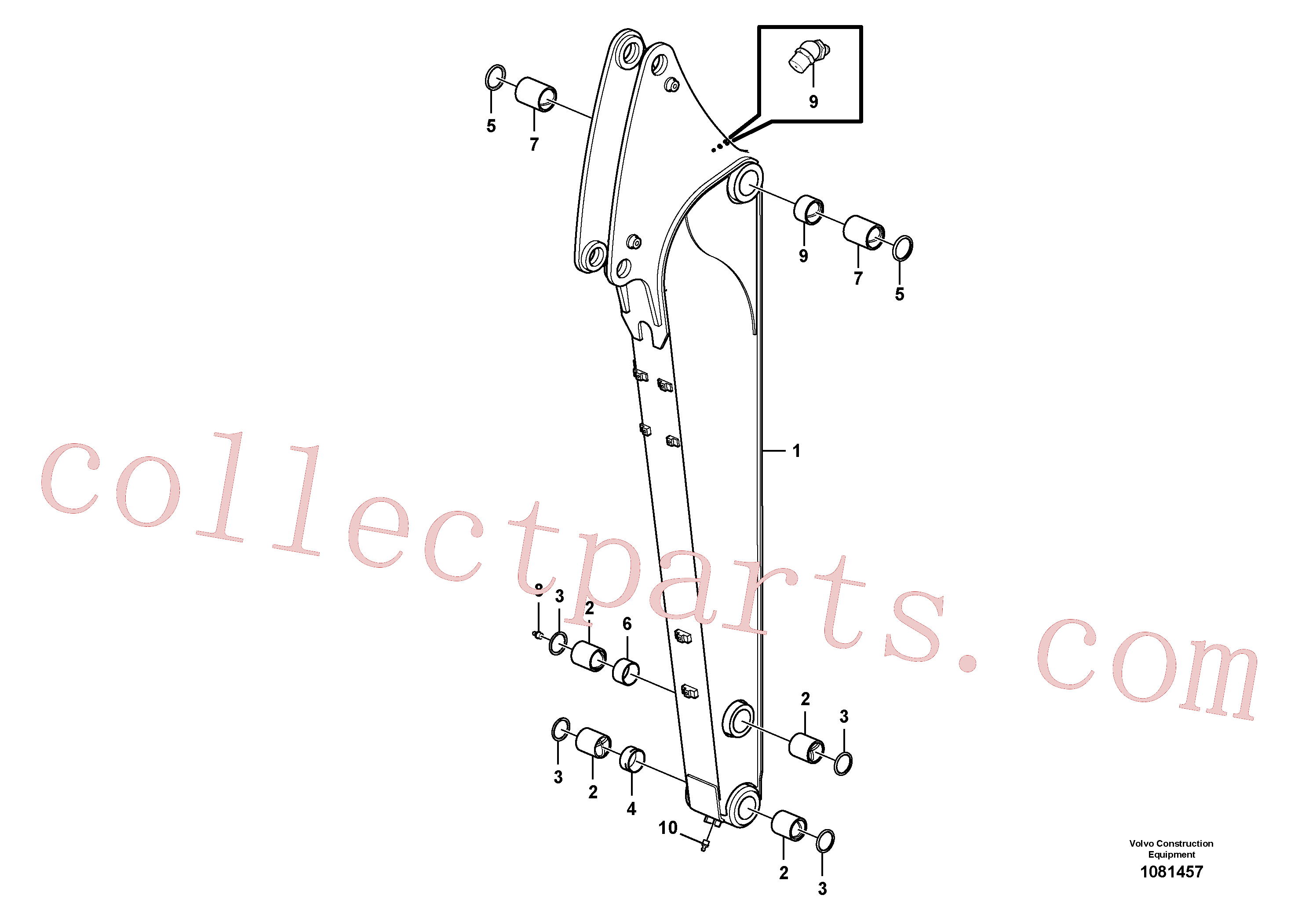 VOE14700524 for Volvo Dipper arm(1081457 assembly)
