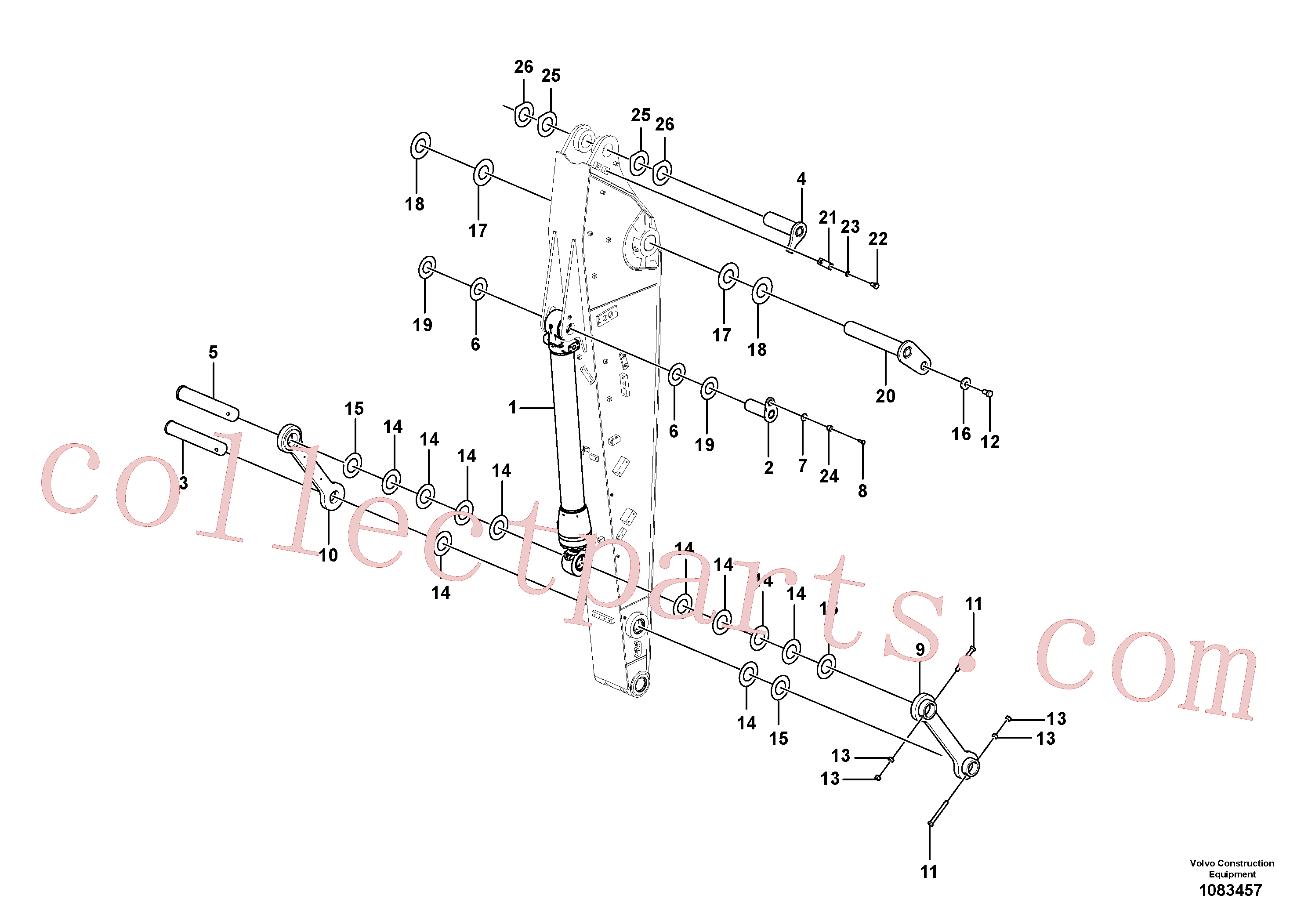VOE14630955 for Volvo Links to dipper arm(1083457 assembly)