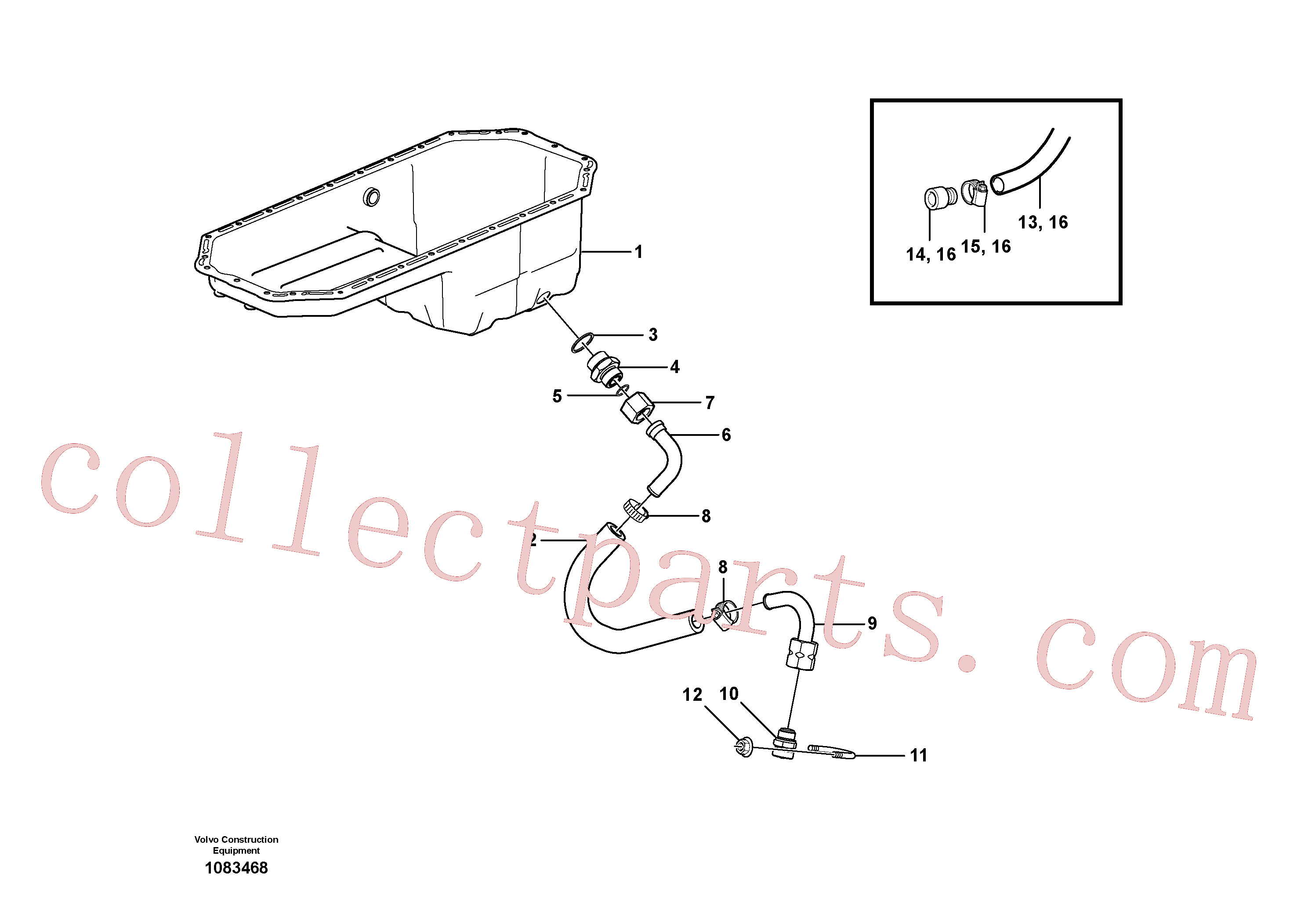 VOE192358 for Volvo Draining of oil sump(1083468 assembly)