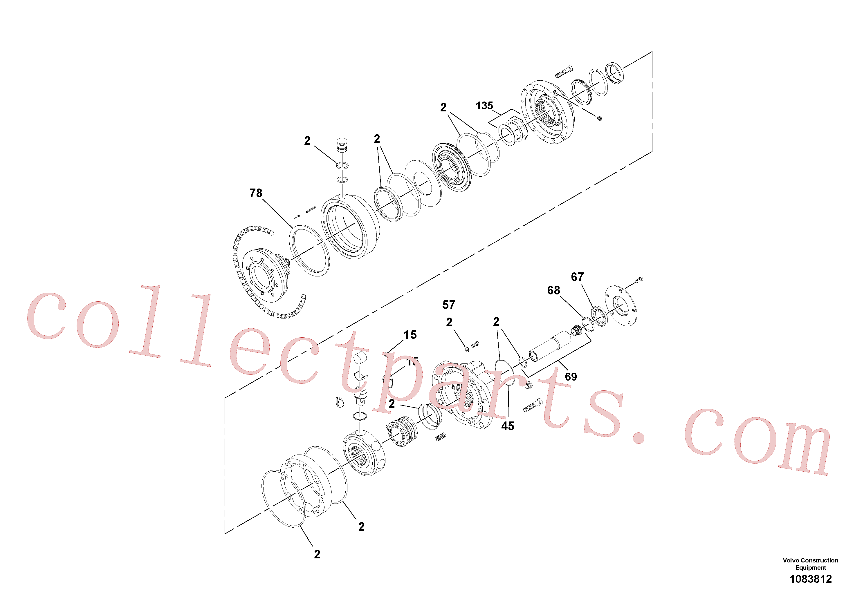 RM43864776 for Volvo Rear Drive Motor(1083812 assembly)