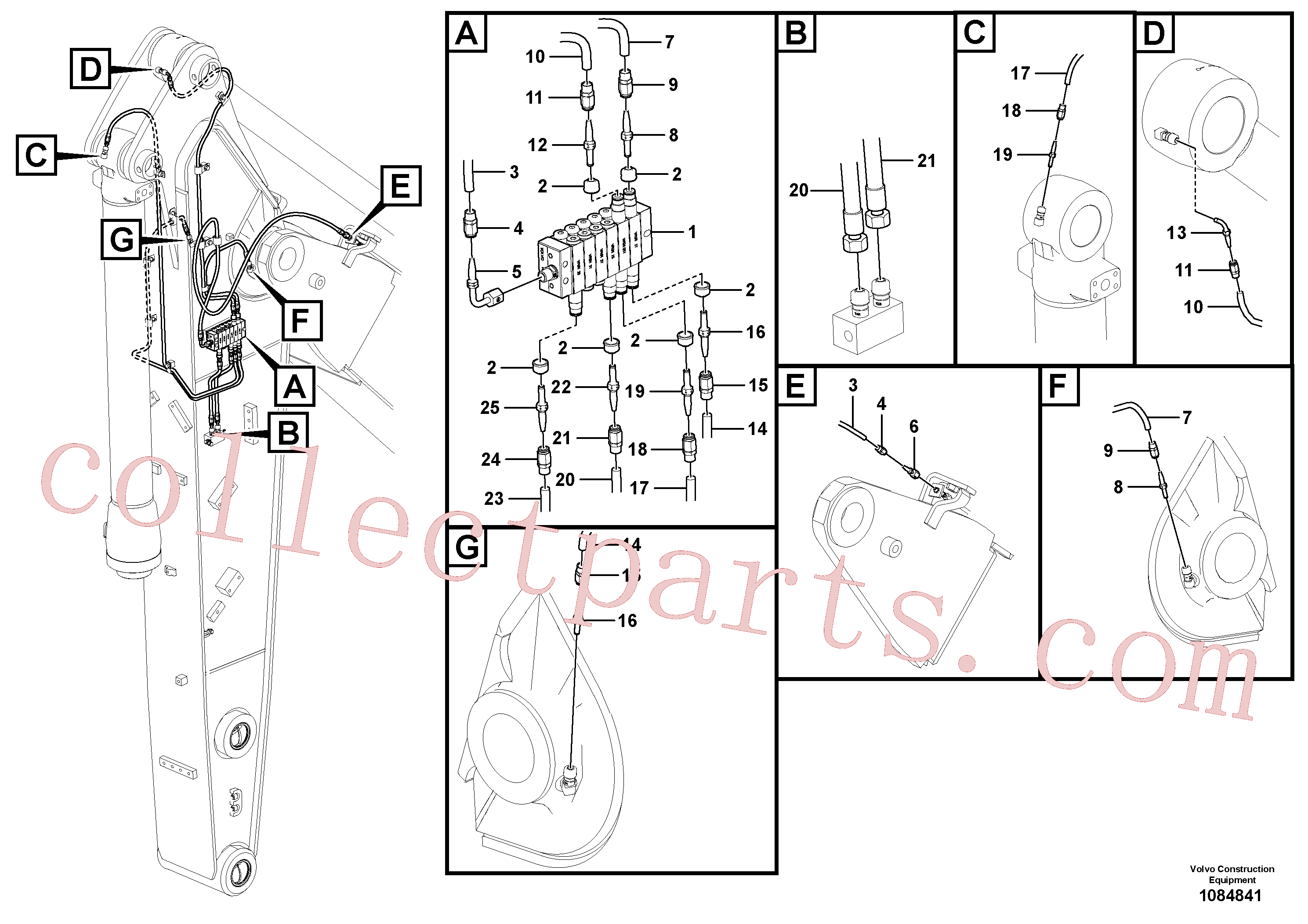 VOE14388450 for Volvo Distributor set, arm(1084841 assembly)