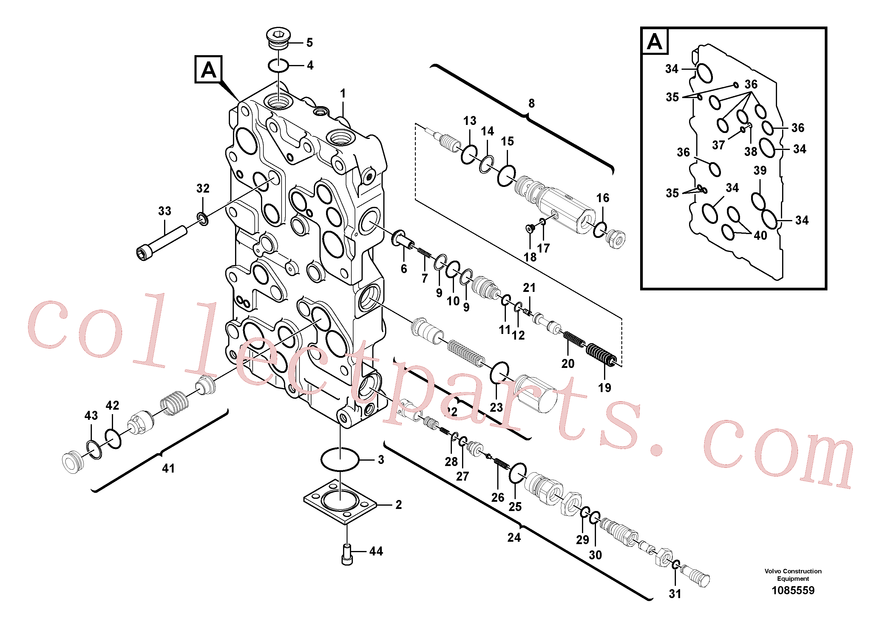 VOE14597168 for Volvo Main control valve(1085559 assembly)