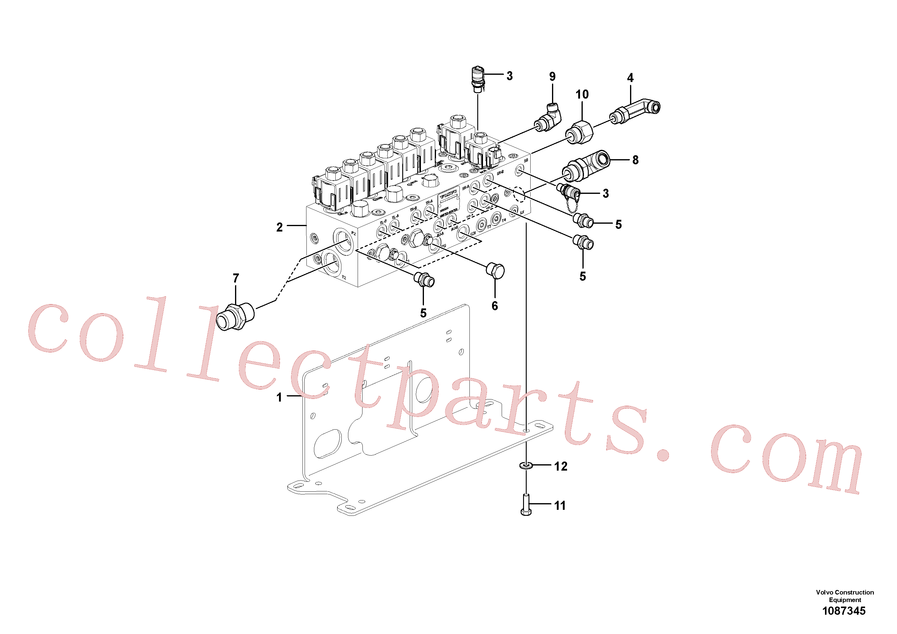 VOE12796392 for Volvo Valve(1087345 assembly)