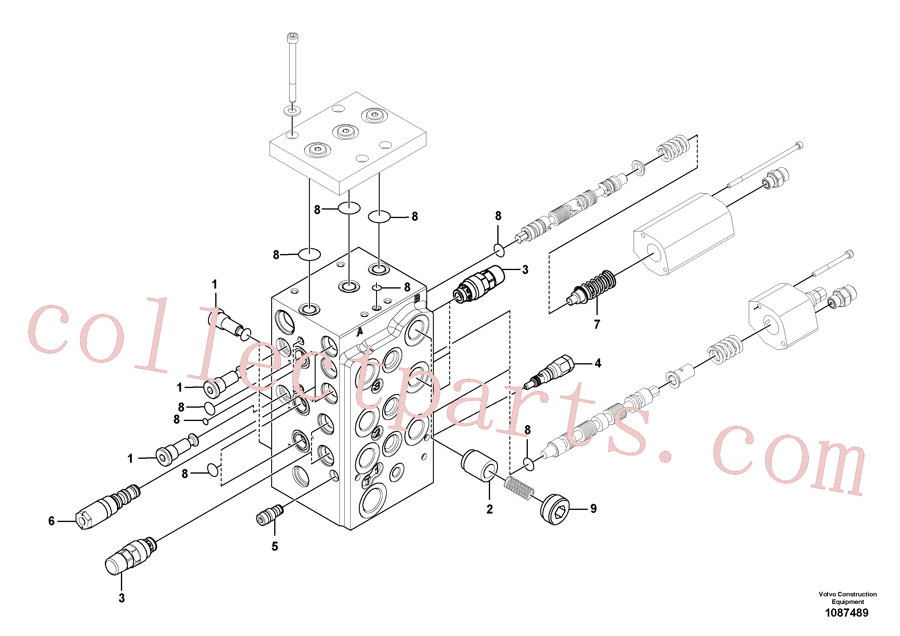VOE15168150 for Volvo Control valve(1087489 assembly)