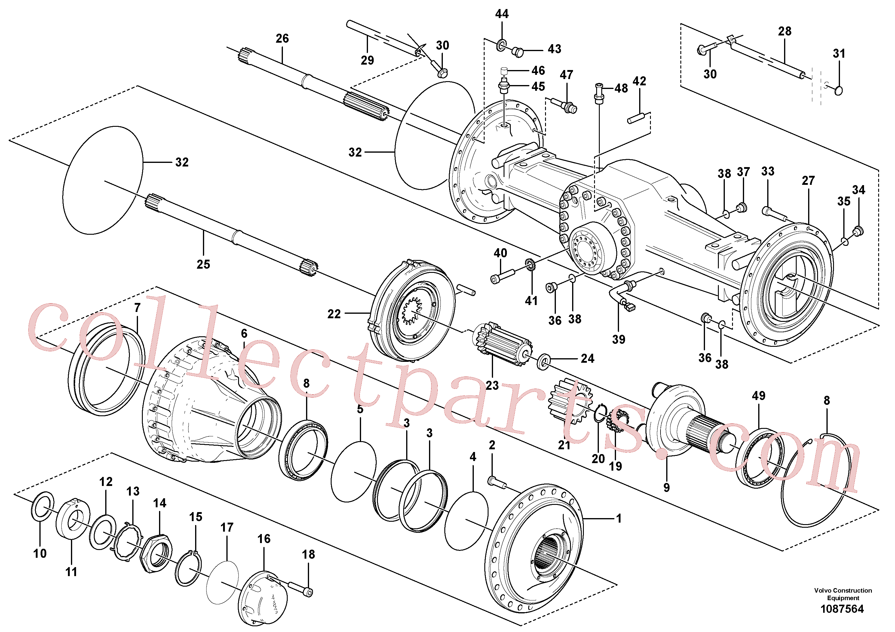 VOE914484 for Volvo Planetary axle, rear(1087564 assembly)