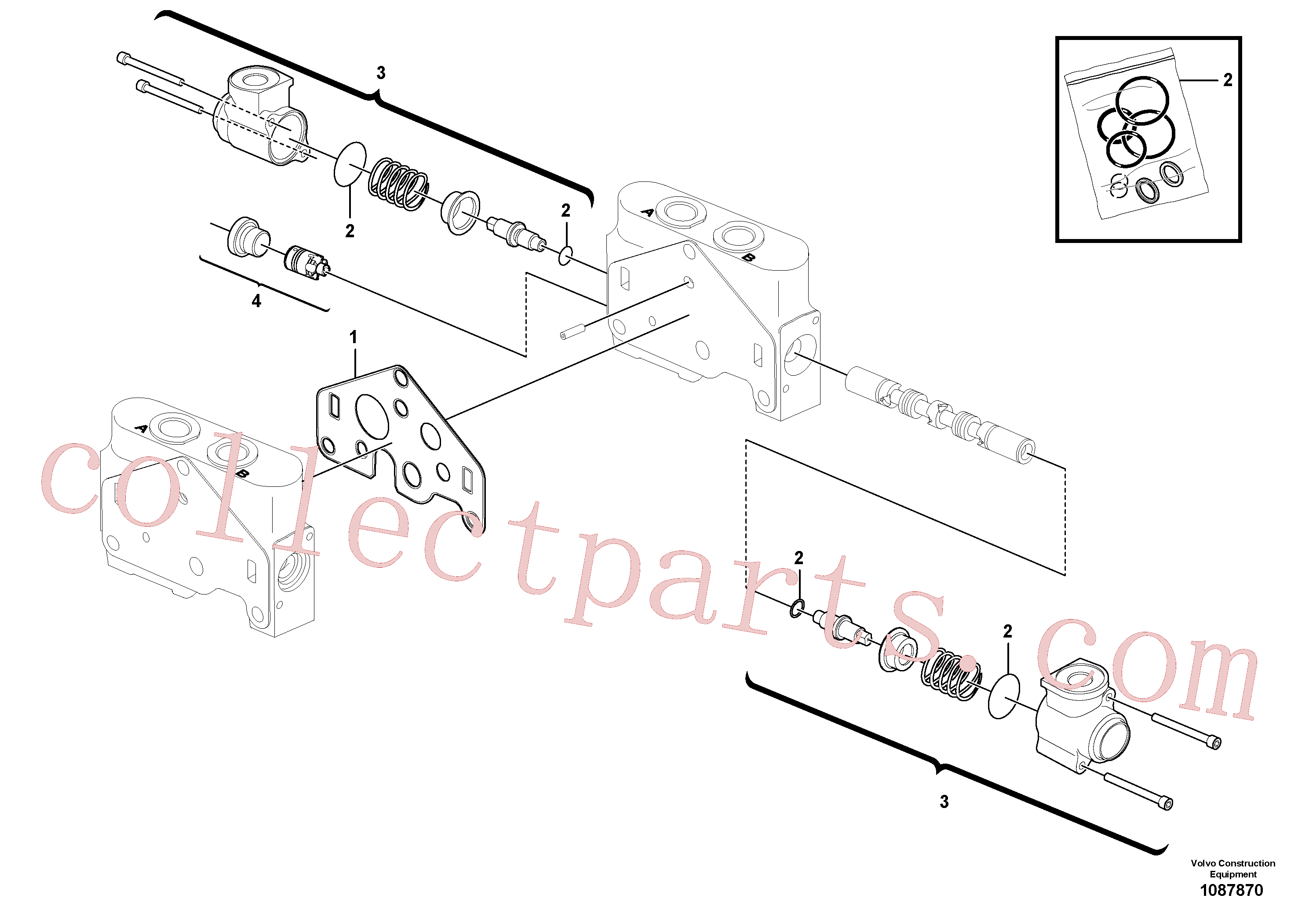 VOE11710921 for Volvo Valve section(1087870 assembly)