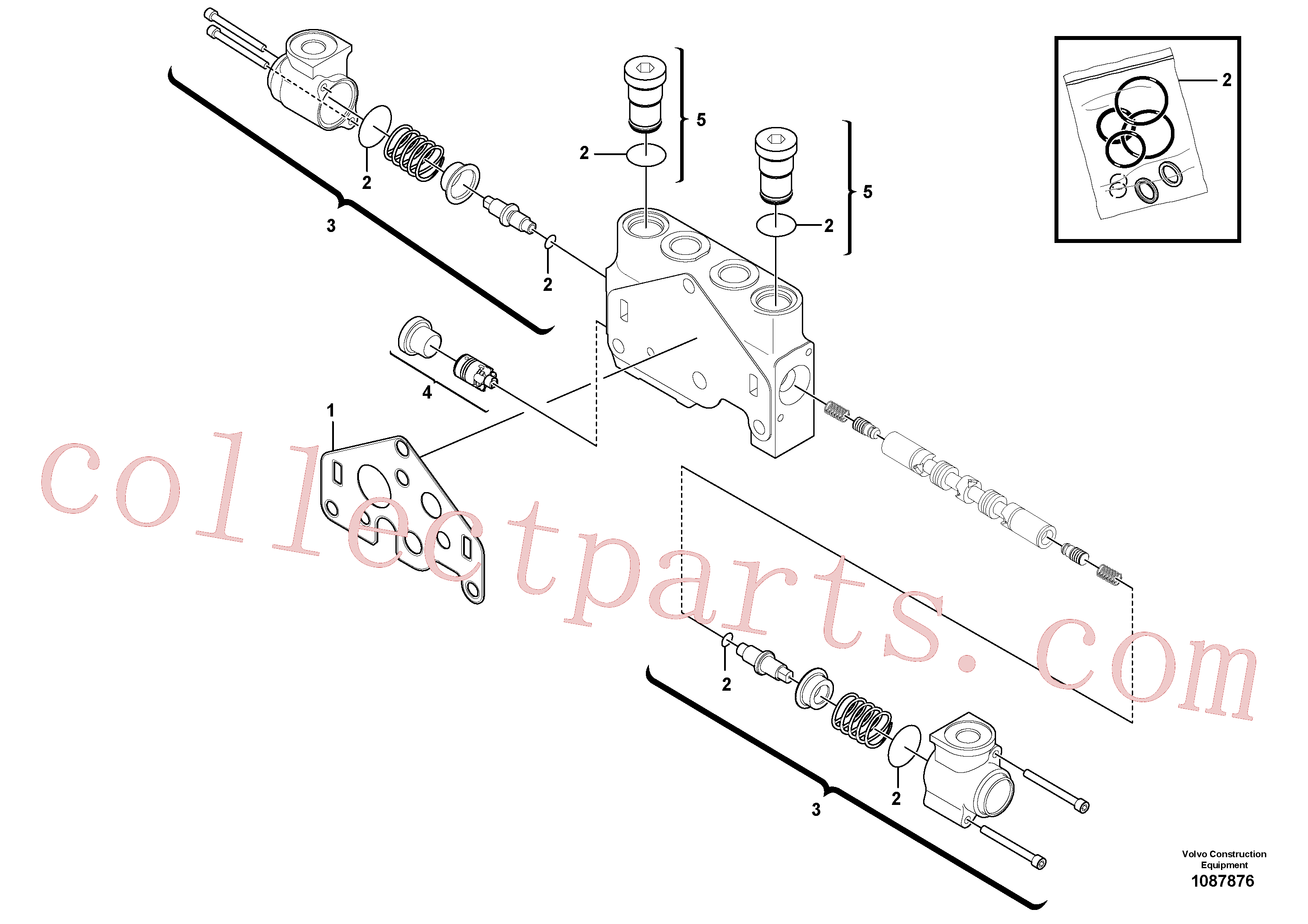 VOE11710921 for Volvo Valve section(1087876 assembly)