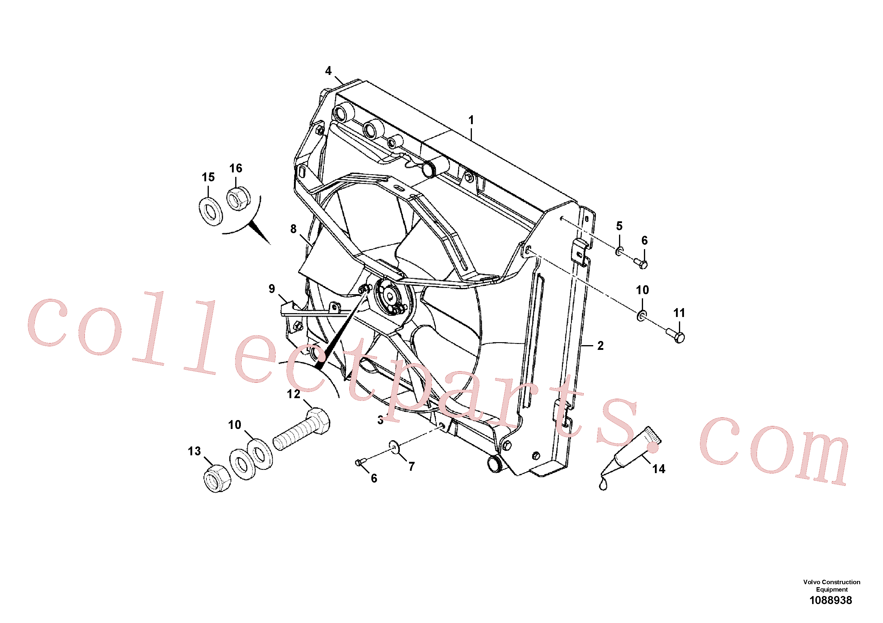 VOE17223987 for Volvo Cooling pack installation(1088938 assembly)